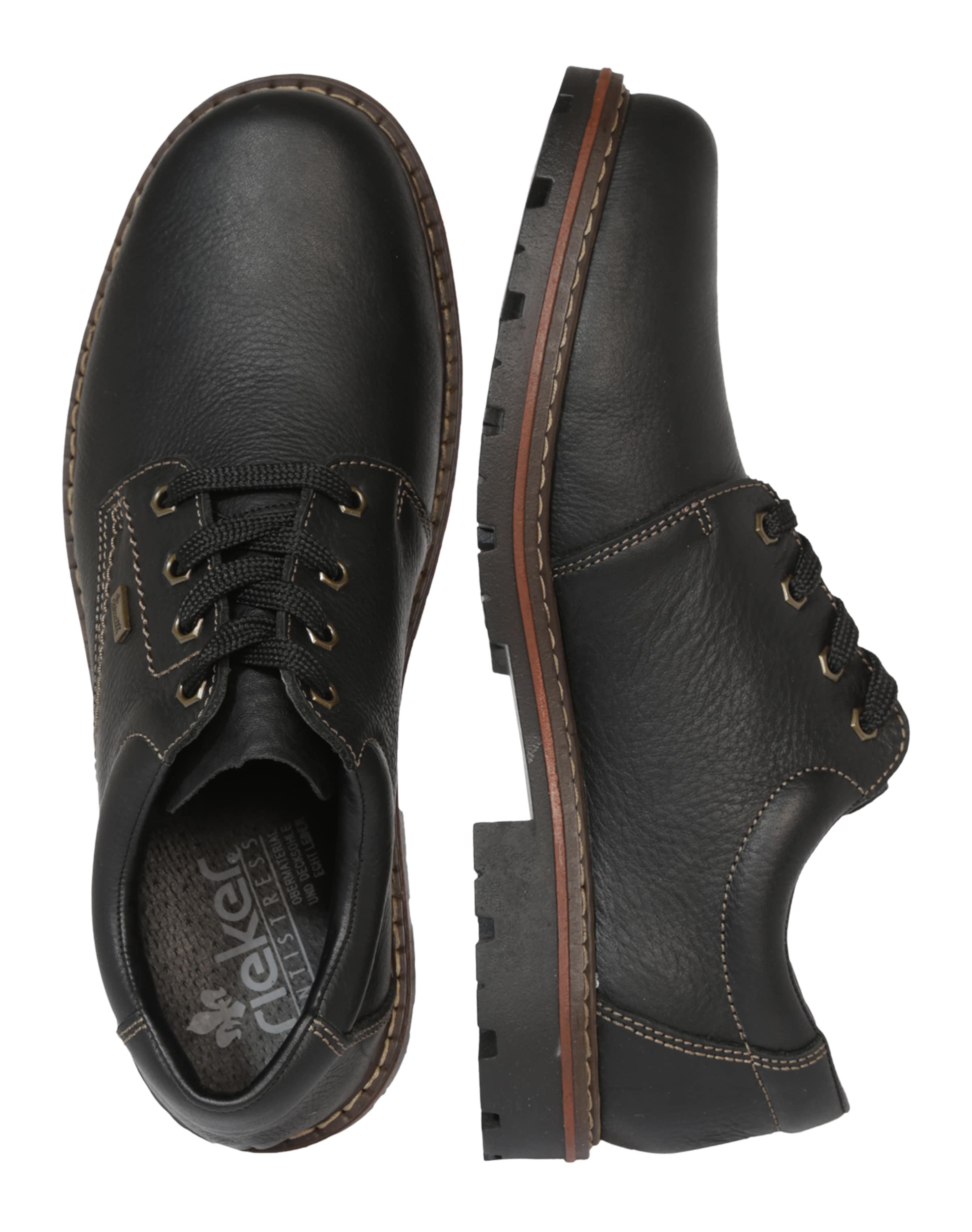 Rieker En Chaussure Lacets À Noir 2IDH9YWE