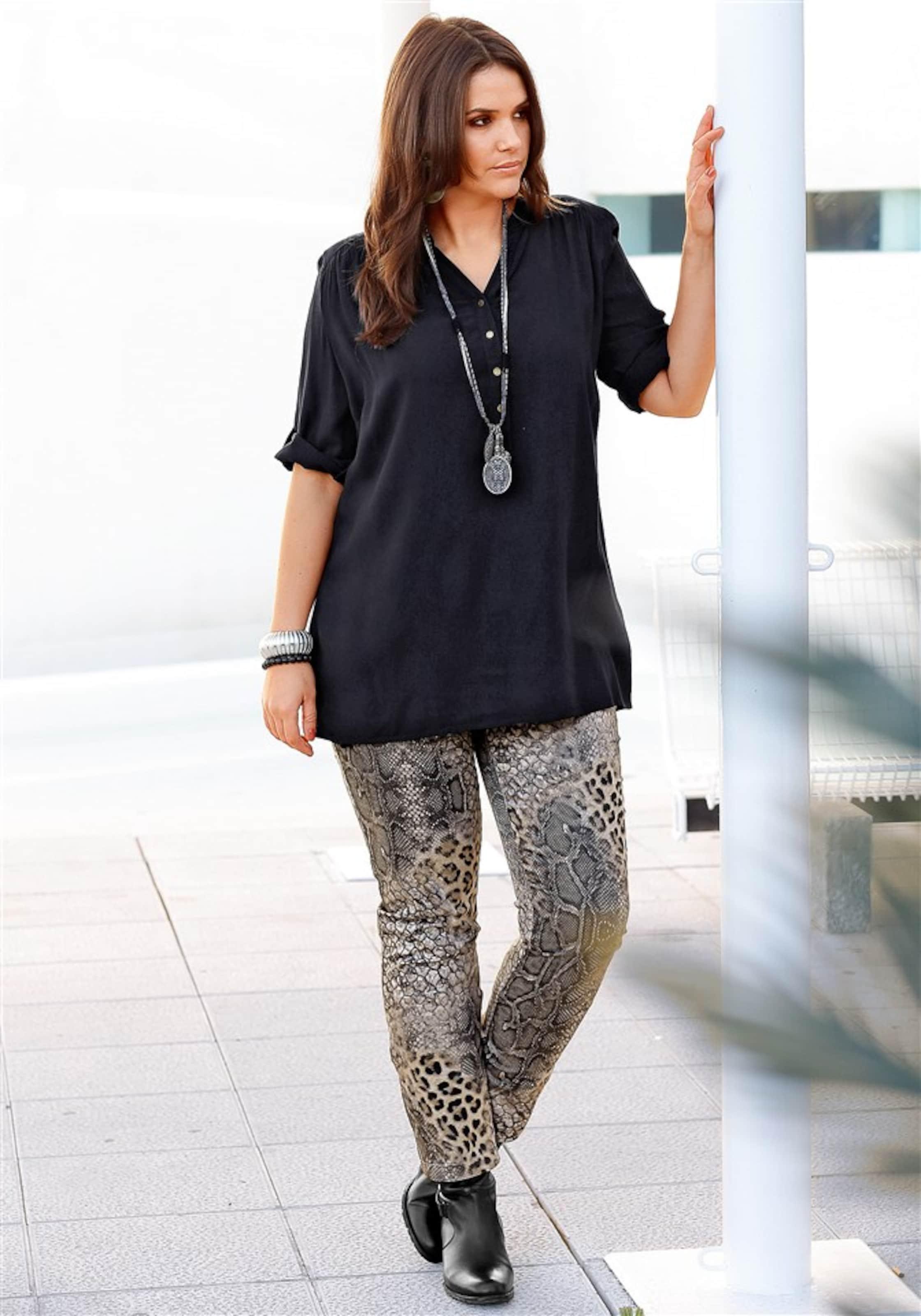 Style Style Longtunika In Sheego Sheego Sheego Style In Longtunika Schwarz Schwarz 80mwvnN