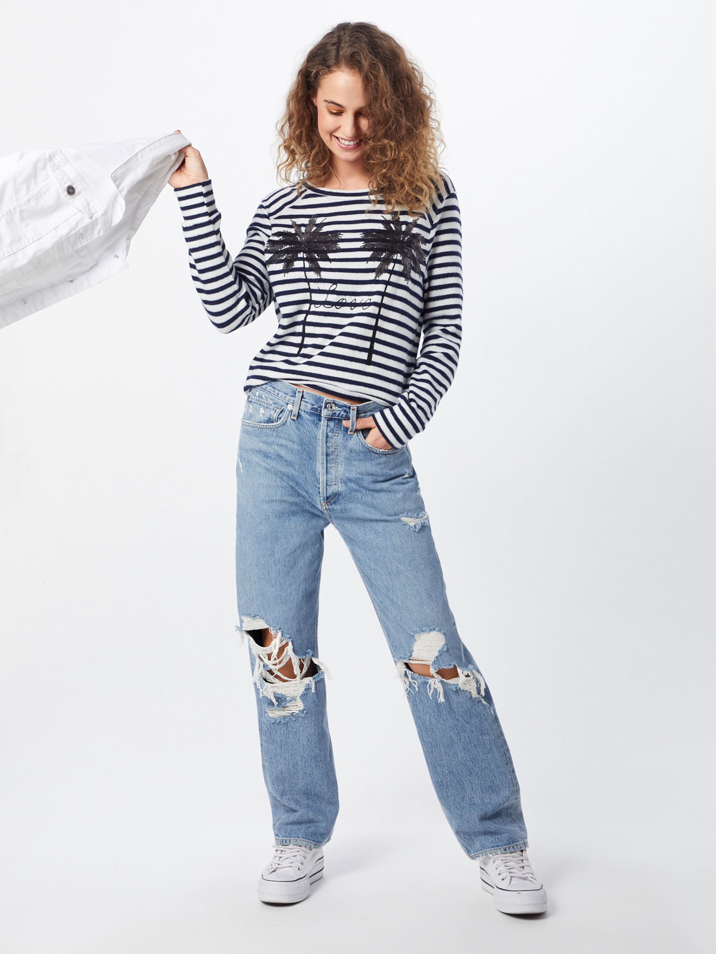 Miss 'longsleeve' shirt T En Bleu Goodlife 354jLAR