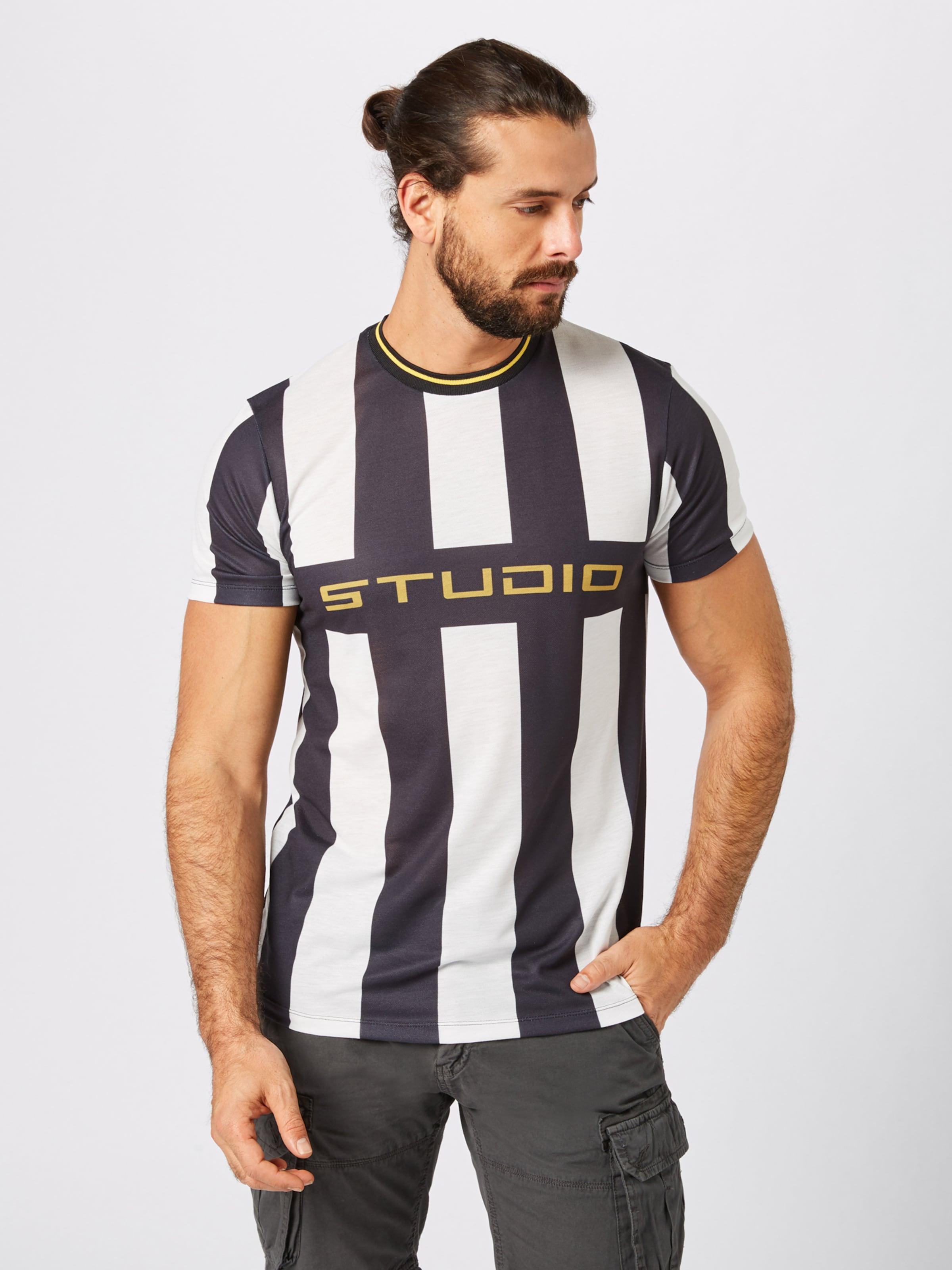 Studio 'fb Stripe' T En Look NoirBlanc New shirt W29EIHD
