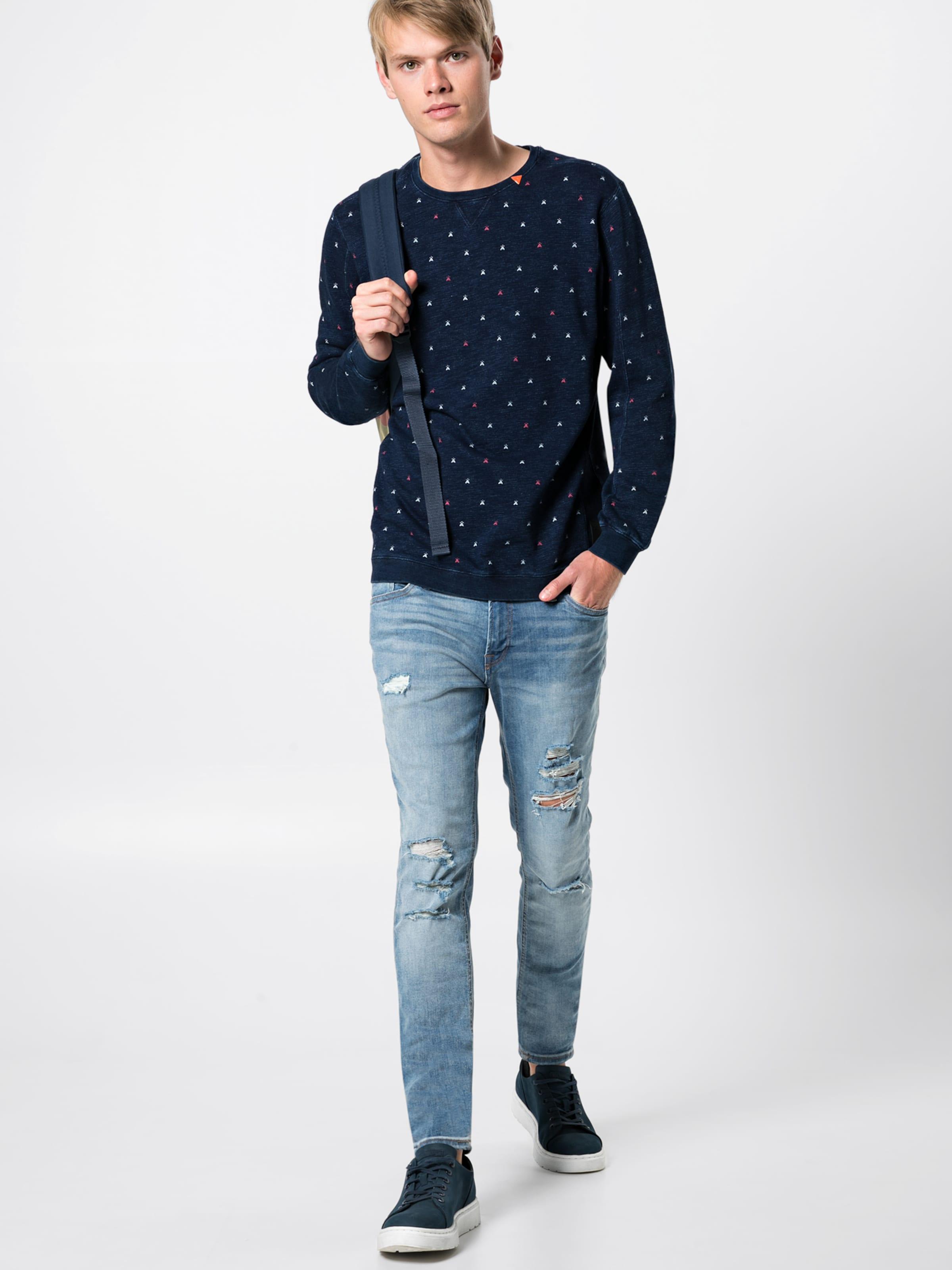 En FoncéMélange Bleu Scotchamp; Couleurs Sweat Soda Blauw' shirt 'ams De kiXZuP