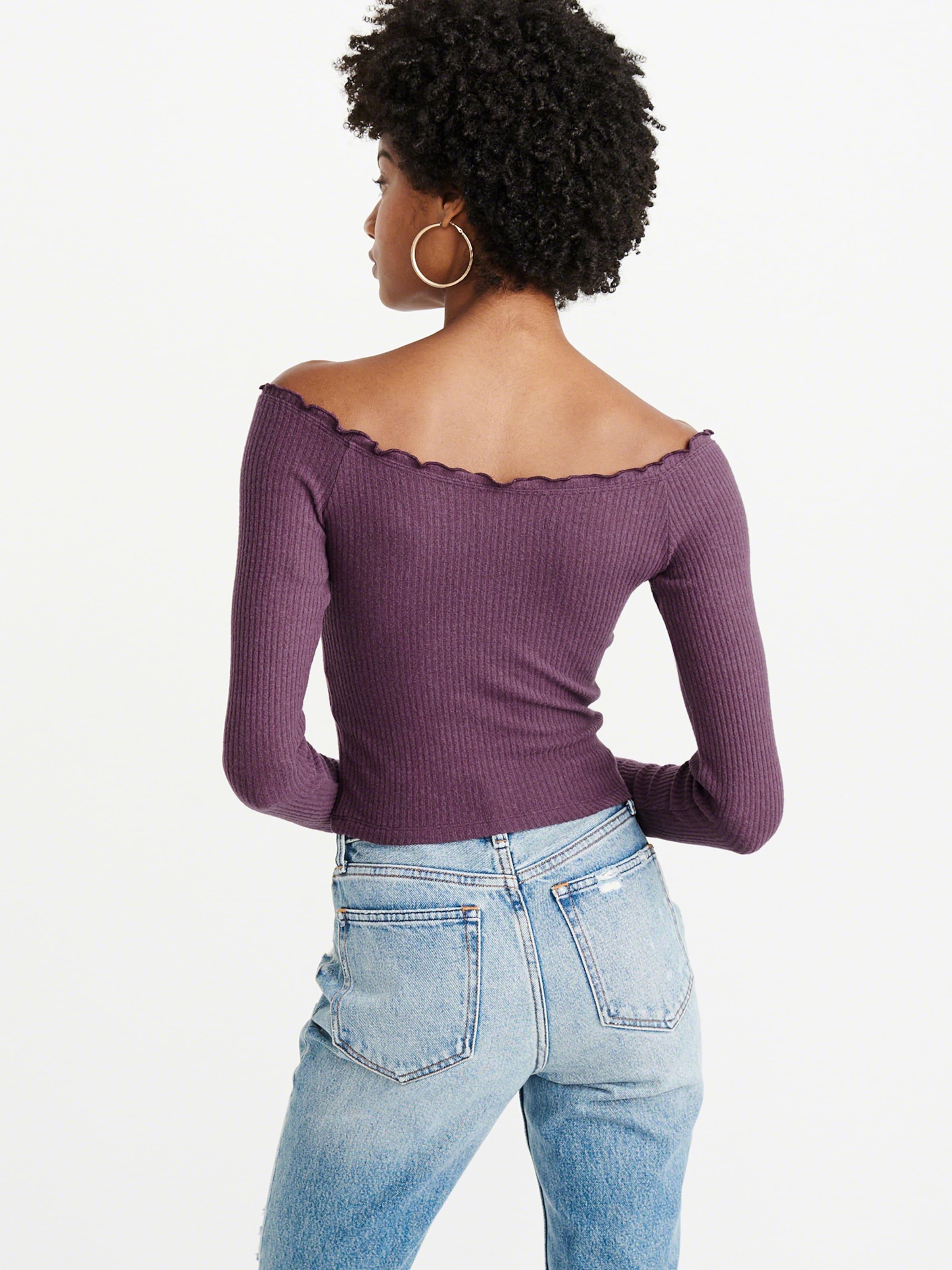 Fashion' shirt Fitch Abercrombieamp; T Bourgogne En 'ls Cozy wmNn80v