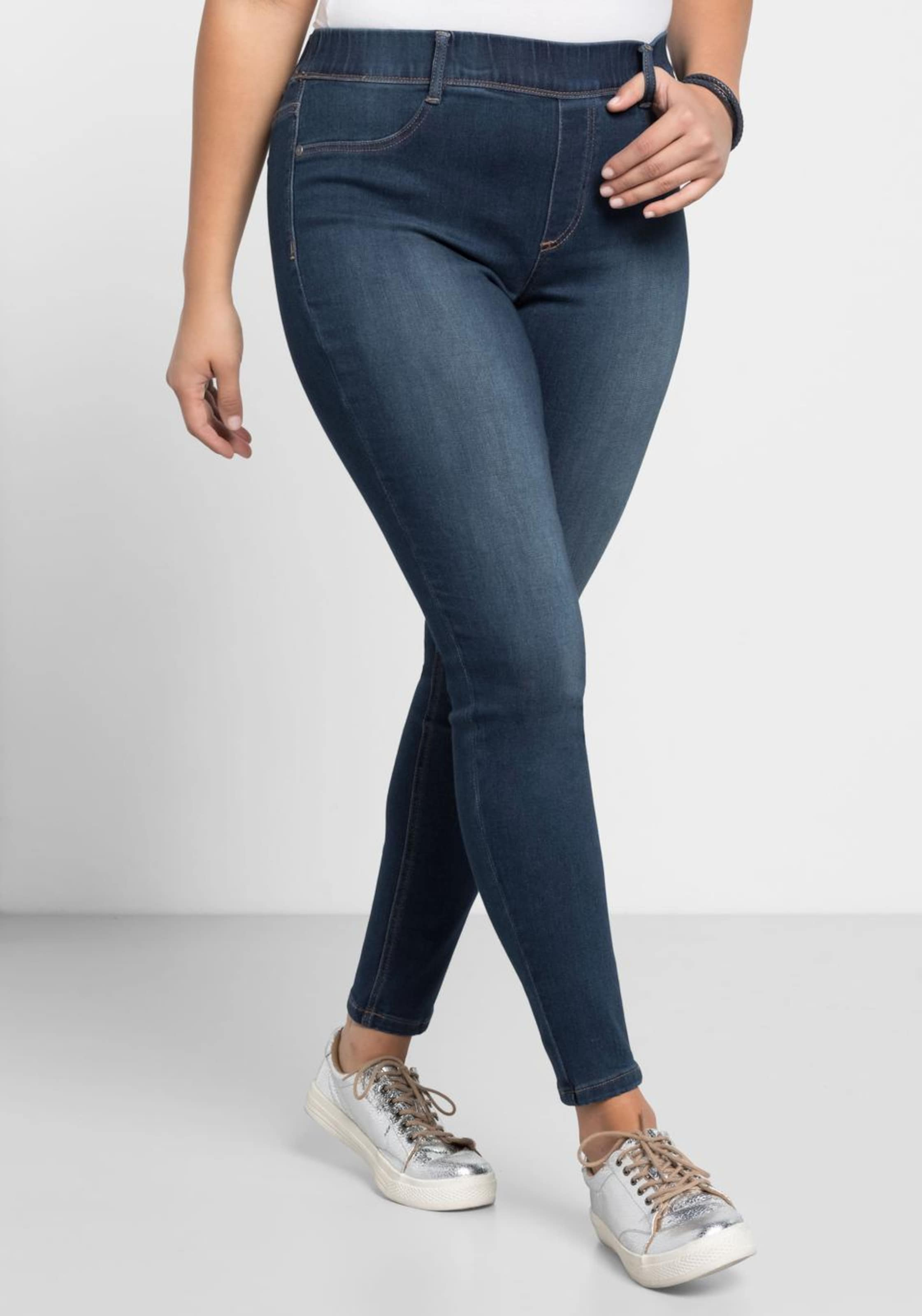 Denim 'die In Stretchjeans Blue Biker' Sheego L3R4A5j