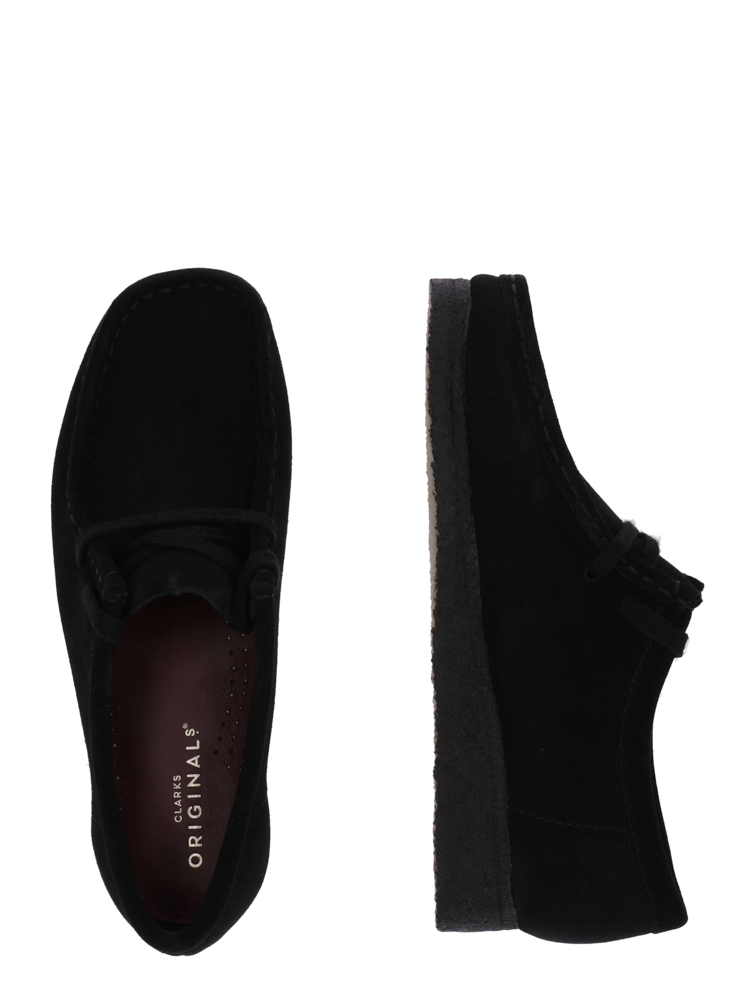 'wallabee' Lacets Clarks Originals Chaussure En Noir À 13lFu5TKJc