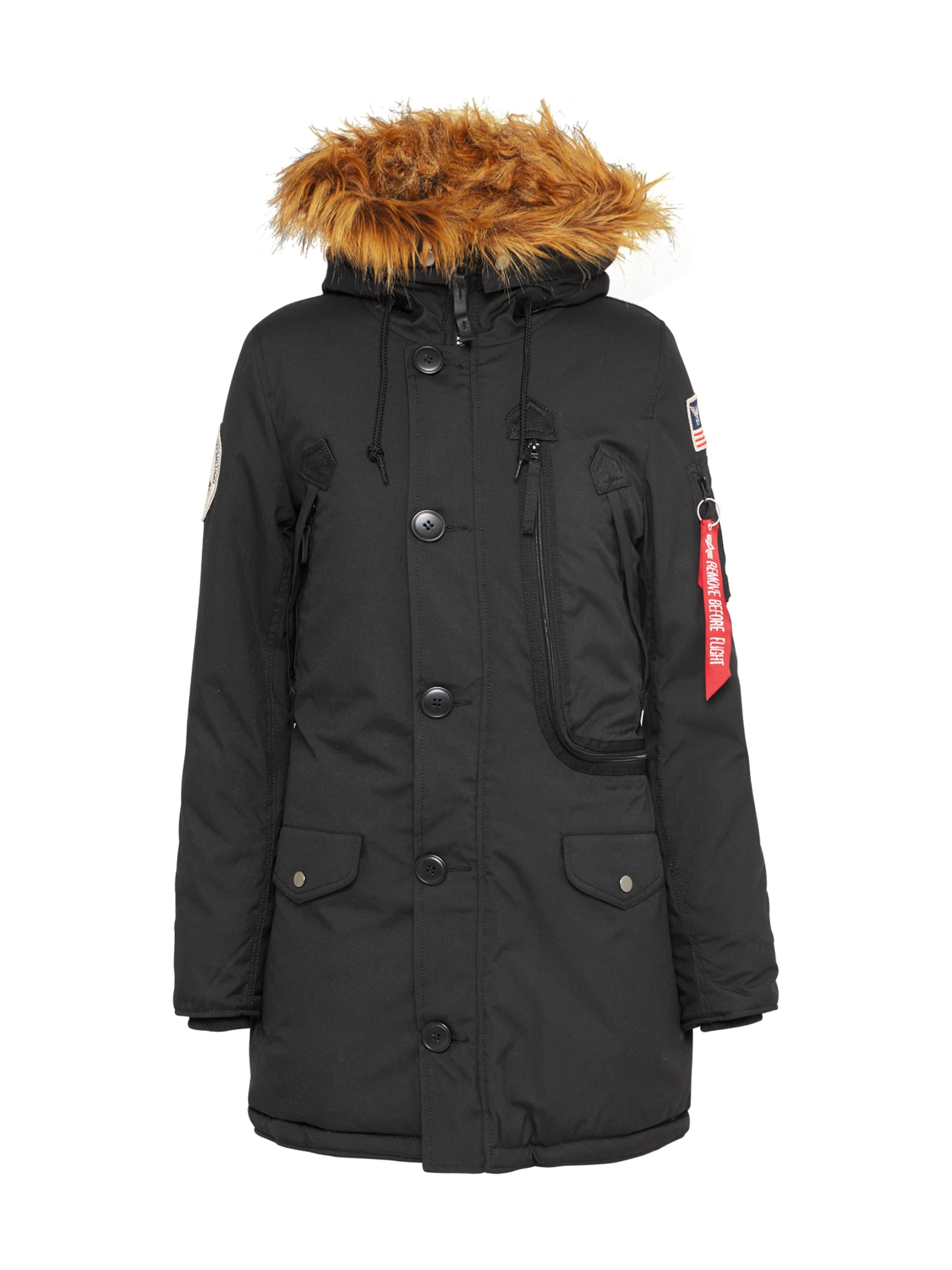 Noir Manteau Alpha D'hiver En Industries Onk0wP