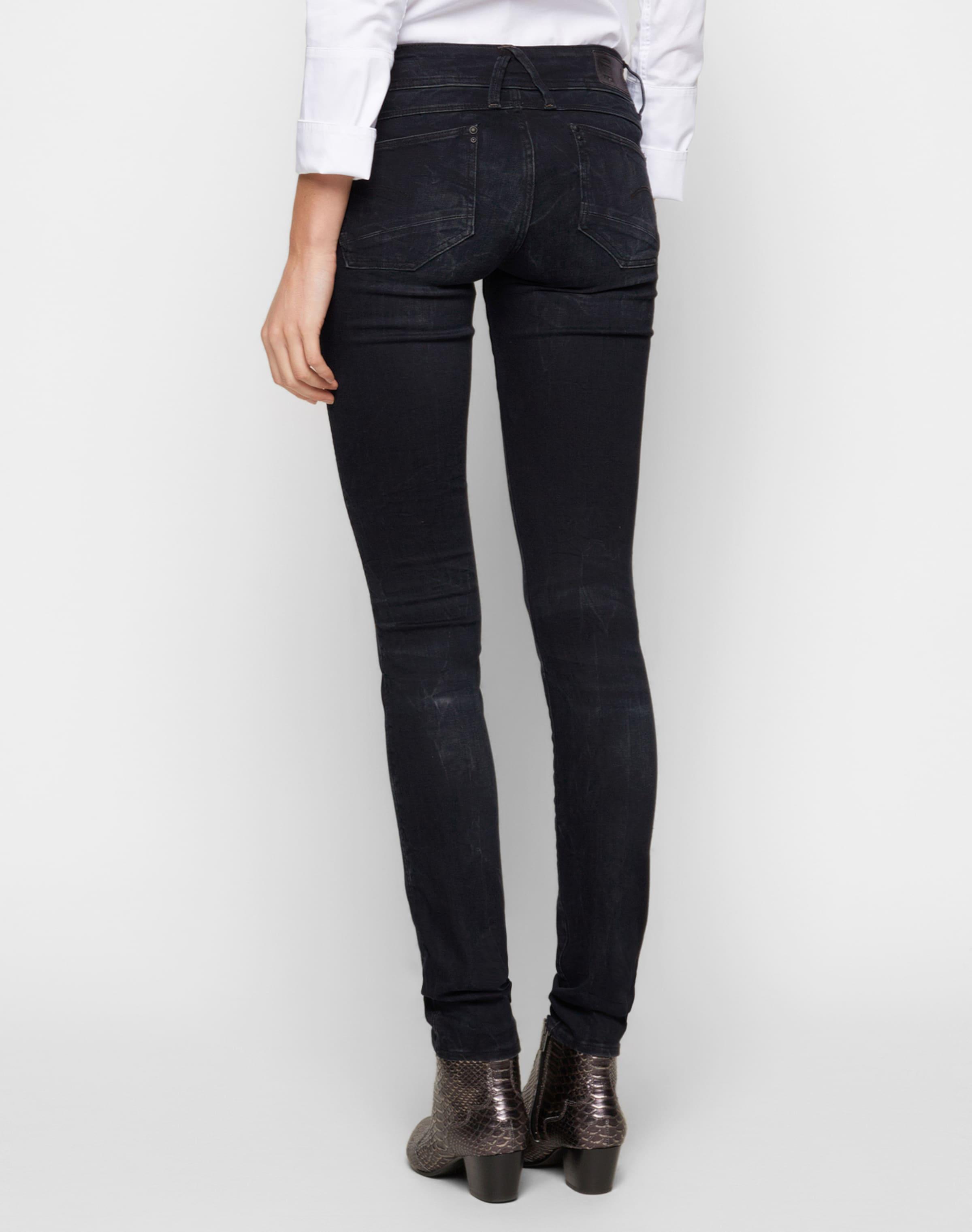 'lynn Mid Raw Skinny' In Jeans NachtblauDunkelblau star G wkPn0O