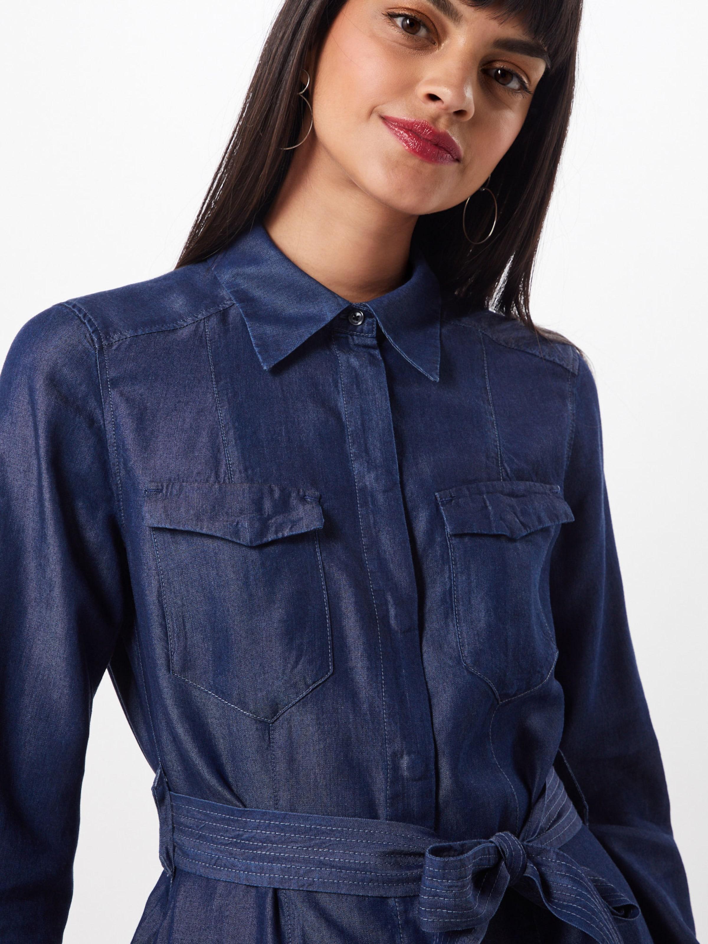 Robe G chemise Foncé 'tacoma' Bleu Raw star En eBrdCxo