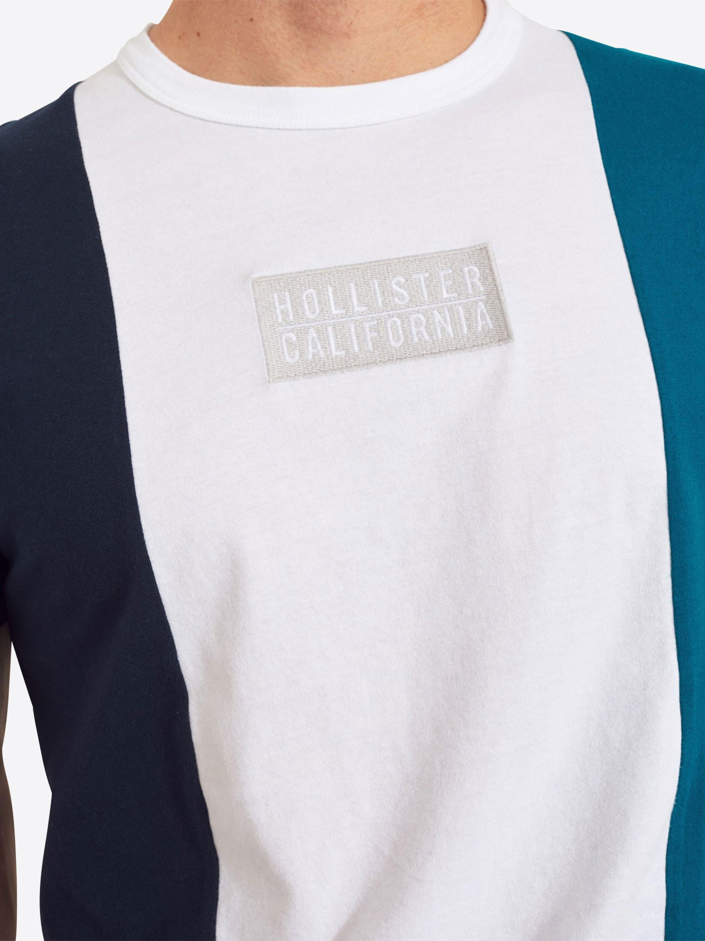 Bleu T shirt En Marine Hollister qUMSzVp