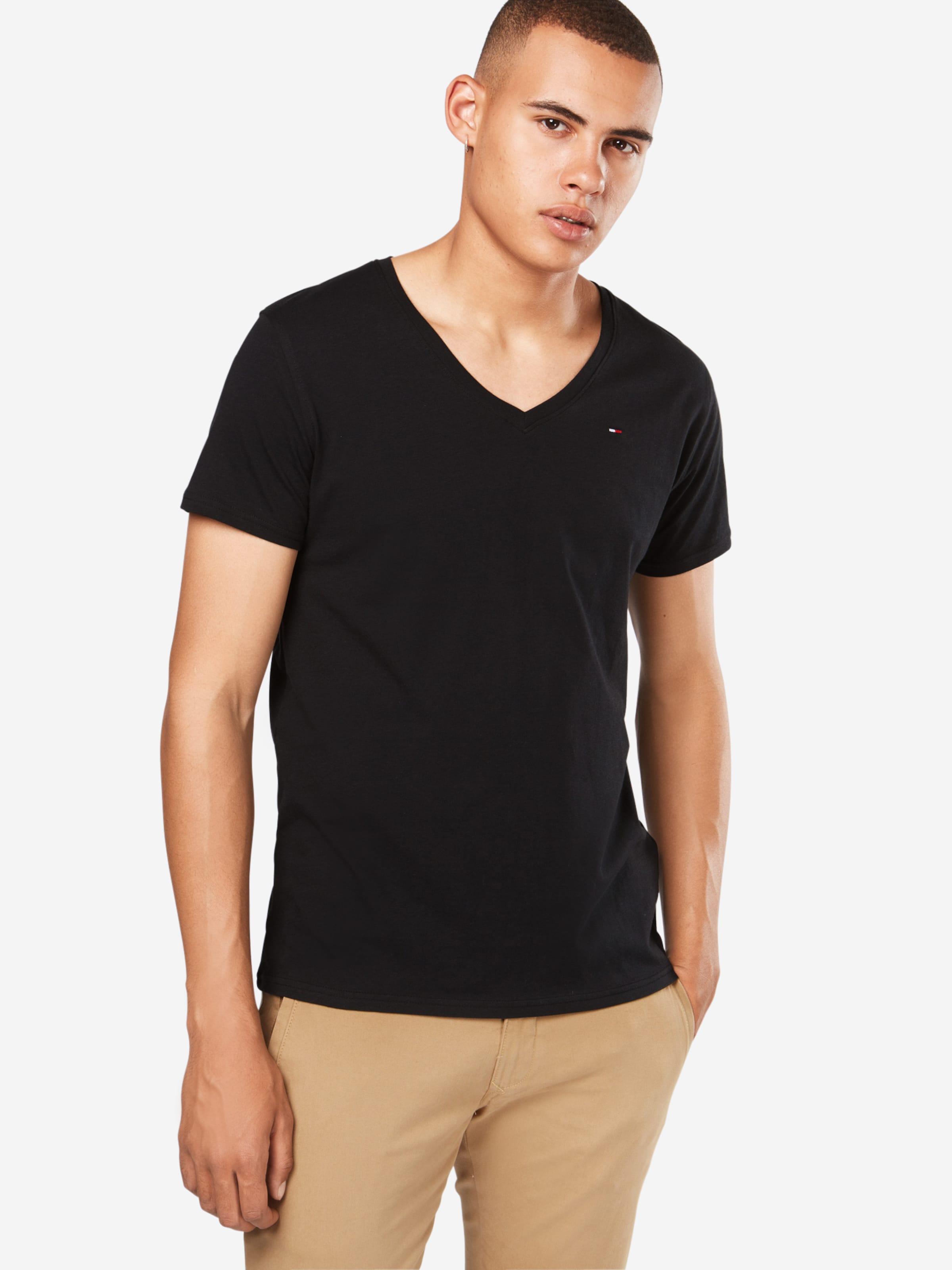Tommy Jeans V En T shirt 'tjm Neck Original Tee' Noir Jersey CQordxeBW