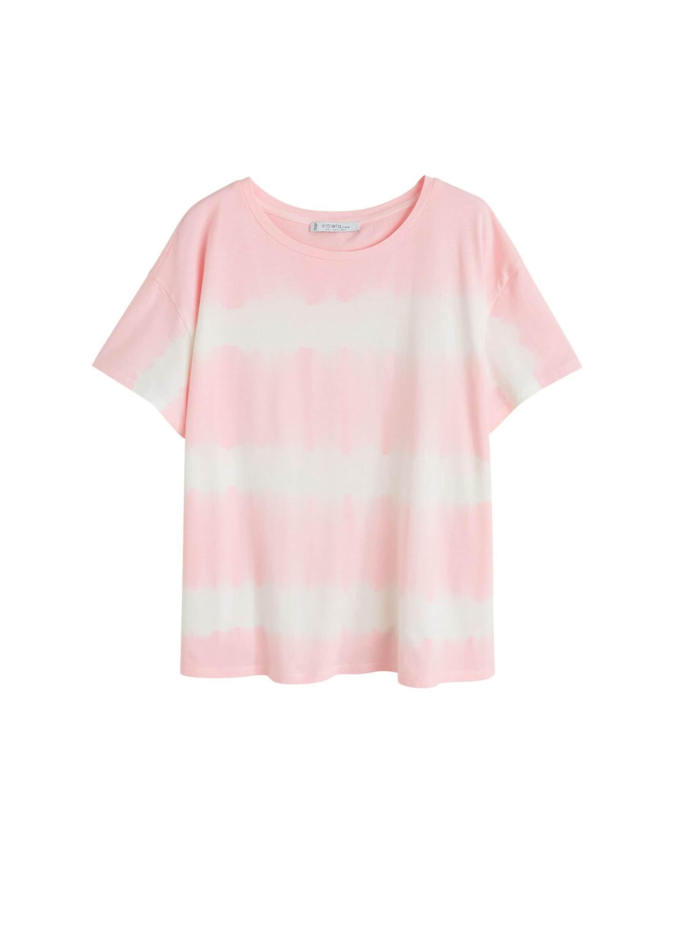 T HellpinkWeiß 'roseta' In By shirt Mango Violeta w0Nnm8