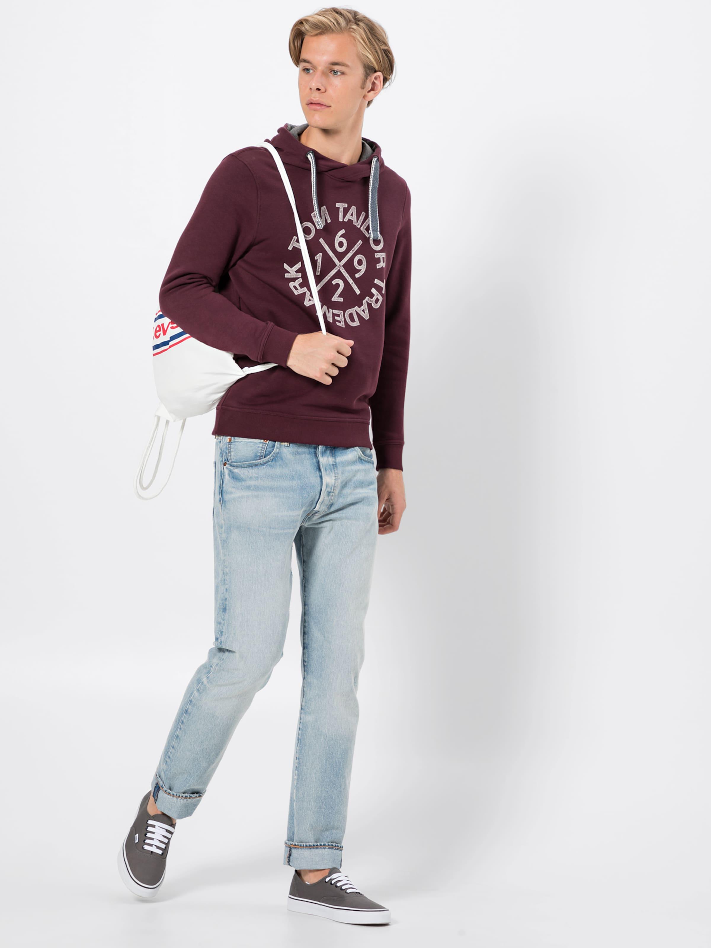 Blanc Tom DenimPourpre shirt En Bleu 'print Hoodie' Sweat Tailor hxQBtrCsd