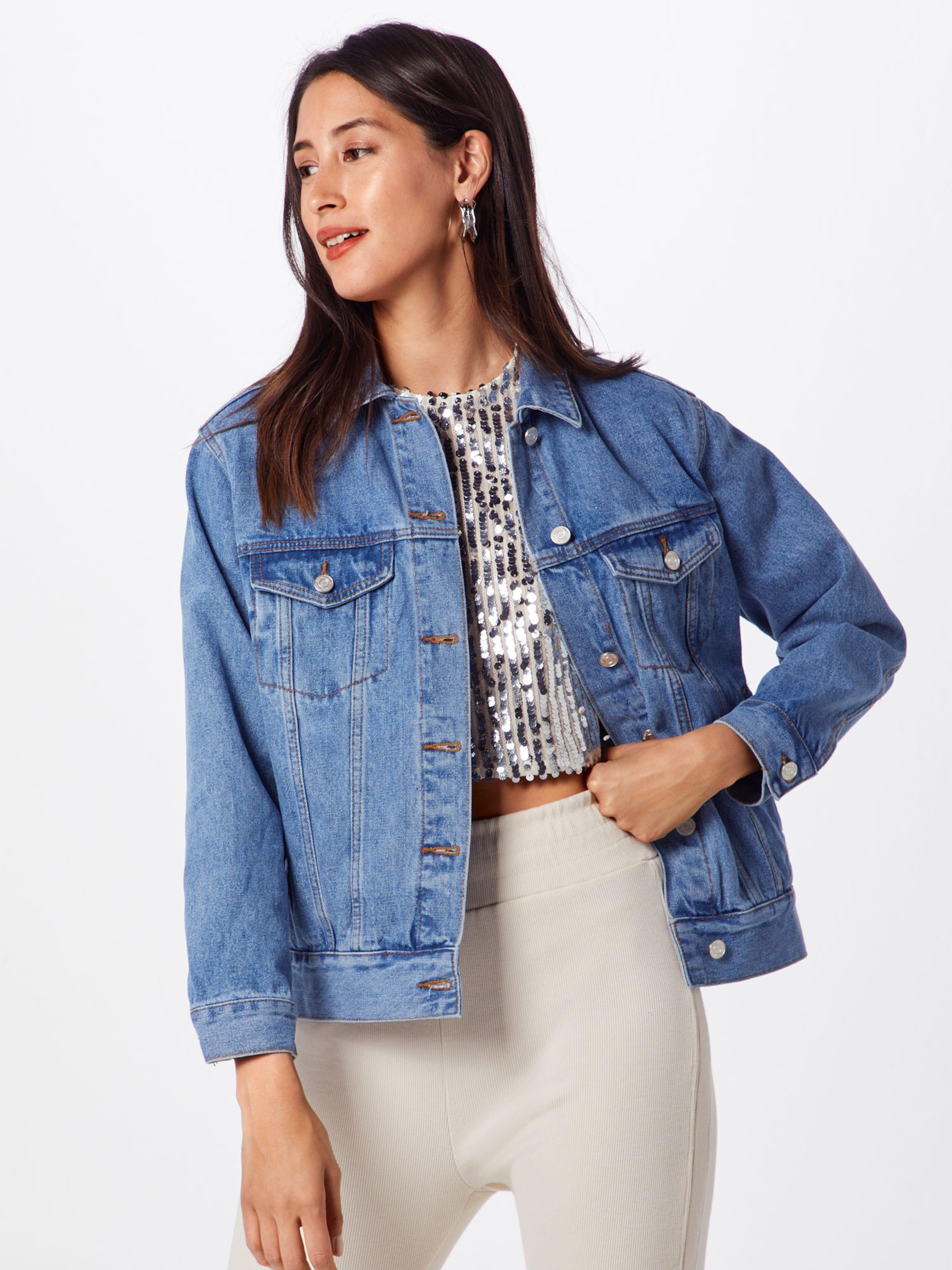 Jacket' In Missguided Blue Denim Jacke 'oversized vmN8w0nO