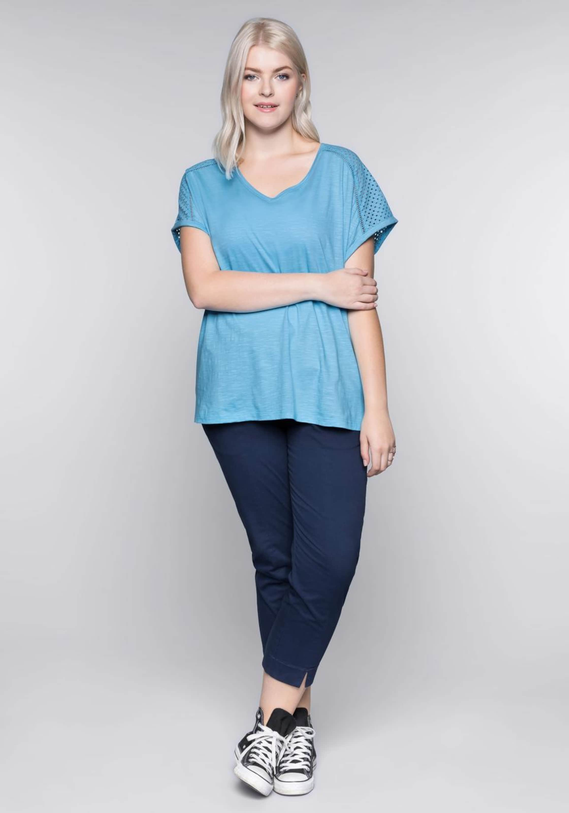 Casual shirt Sheego T In Himmelblau EDH29I