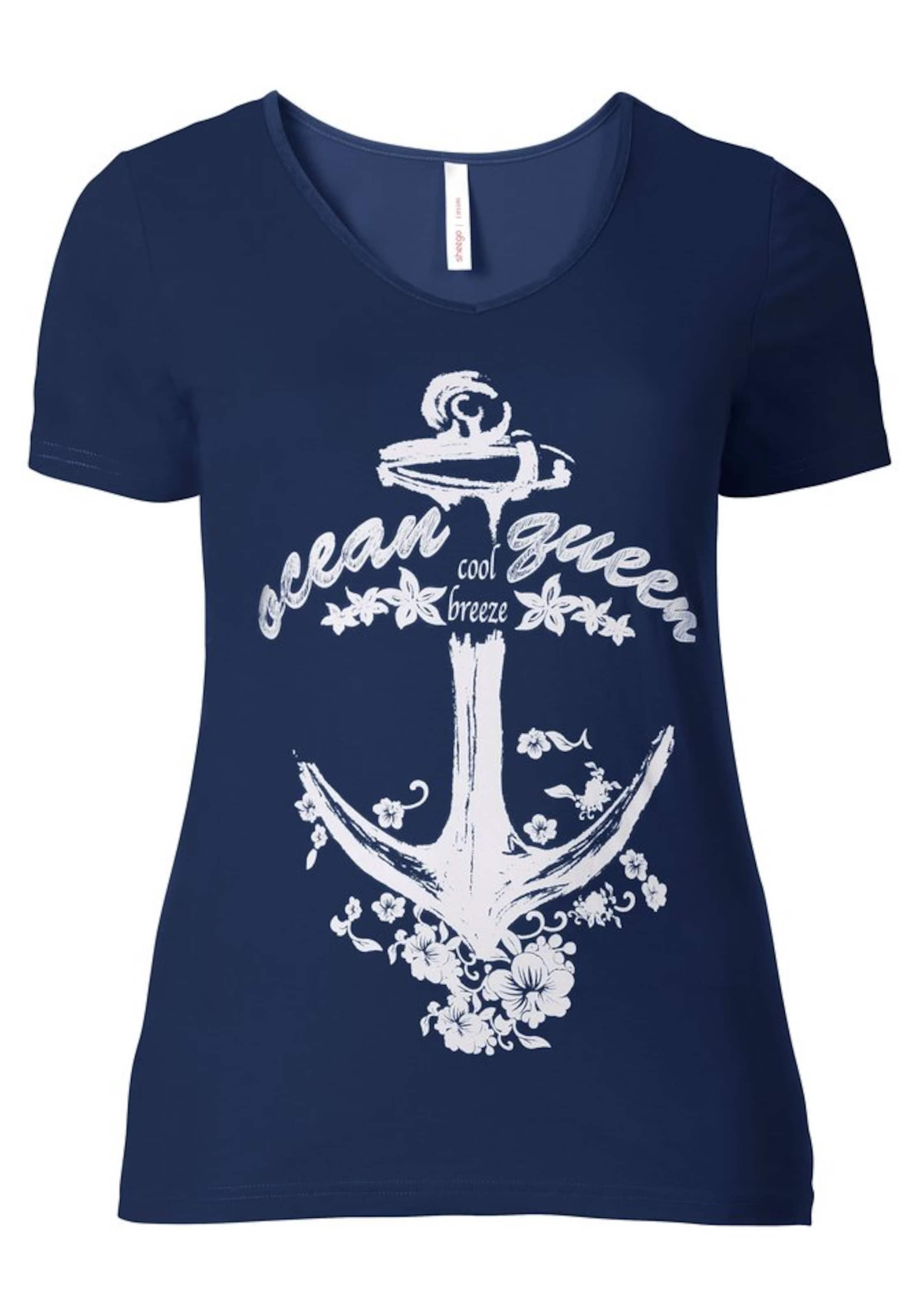 Nachtblau In Casual T shirt Sheego 0NvOywmn8
