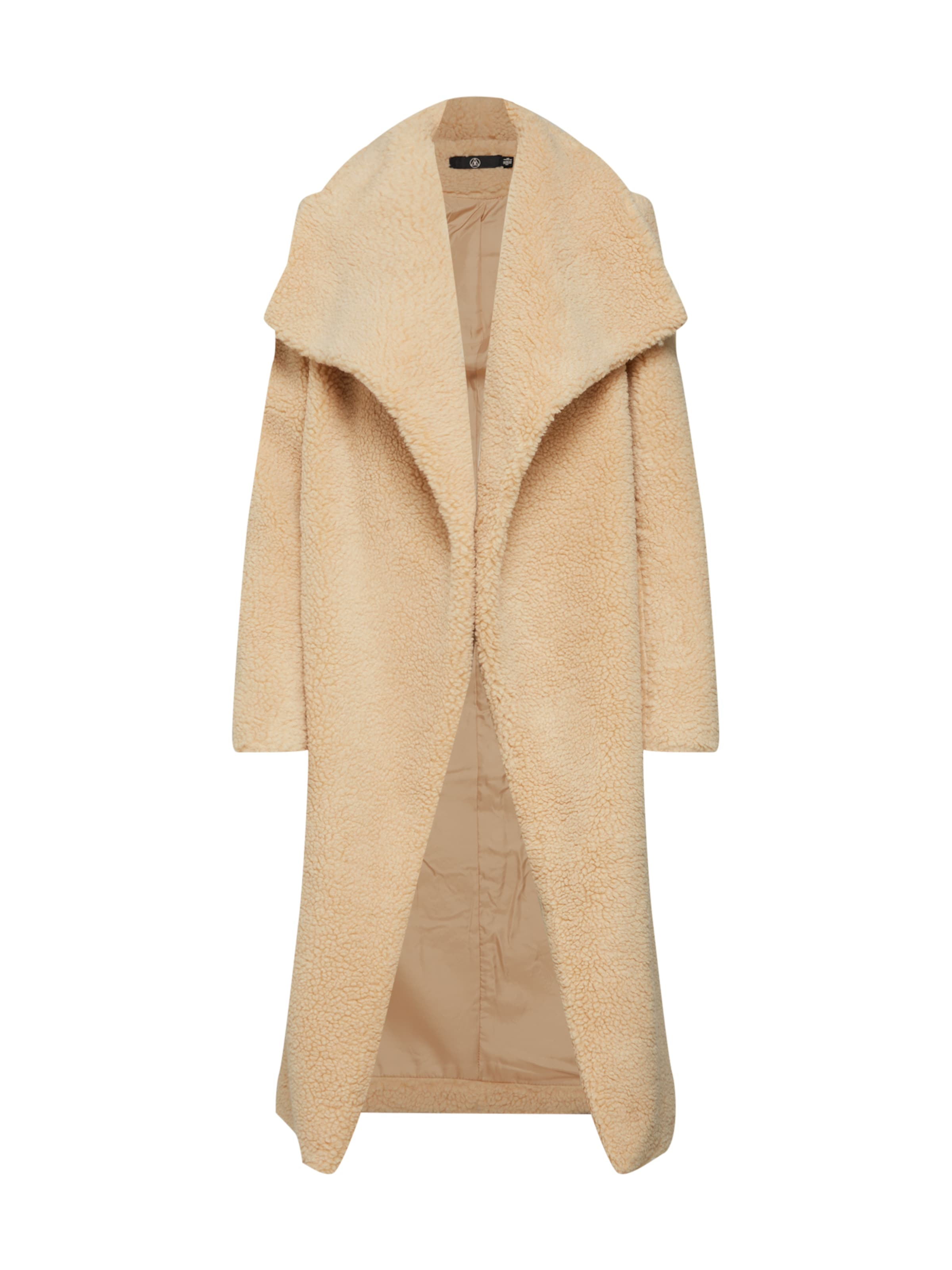 'waterfall En Crème Teddy Manteau Coat' Missguided D'hiver gv6yIbY7f
