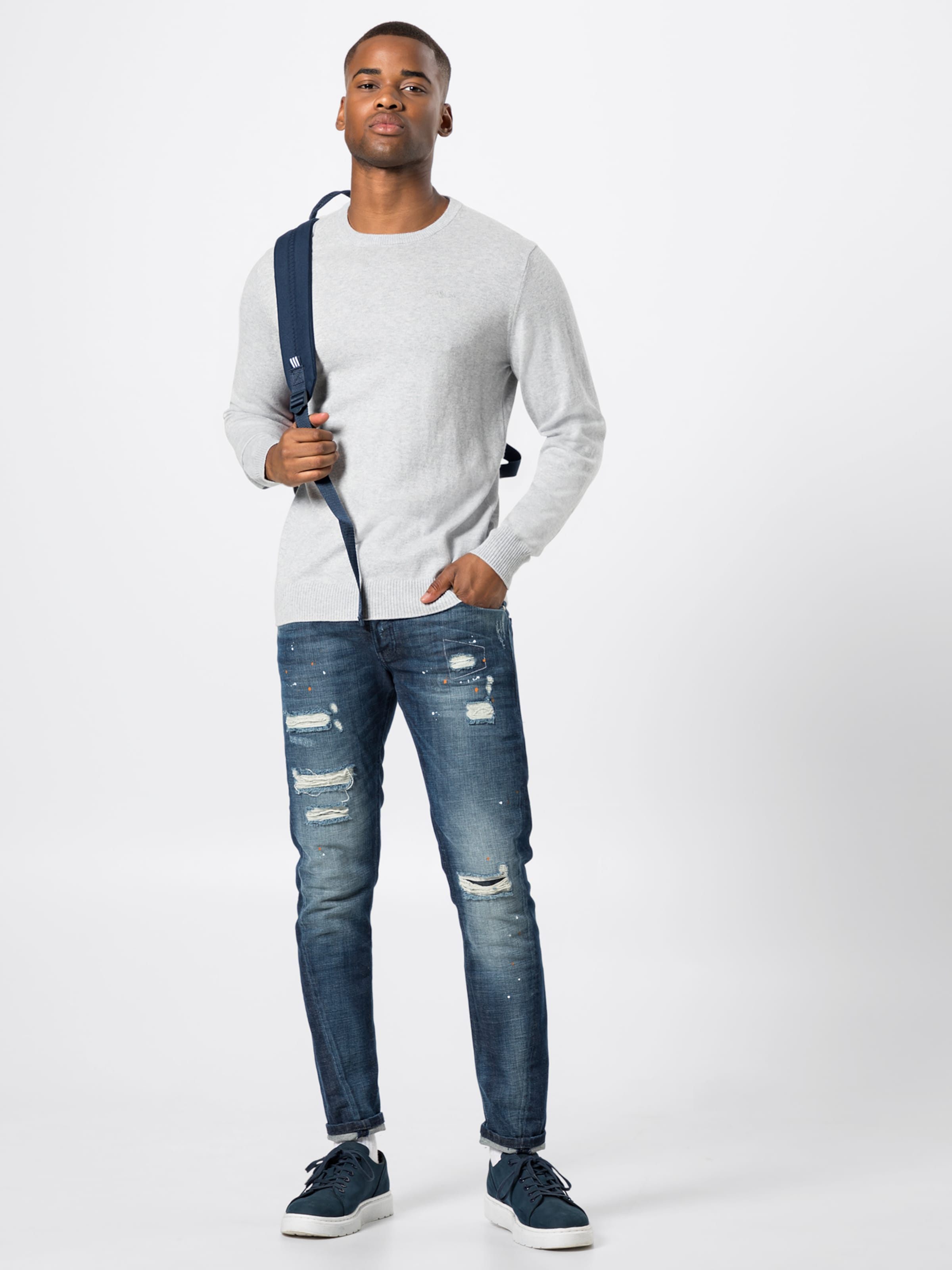Jeans Chiné En Pepe Pull over 'barons' Gris 9D2HWIEY
