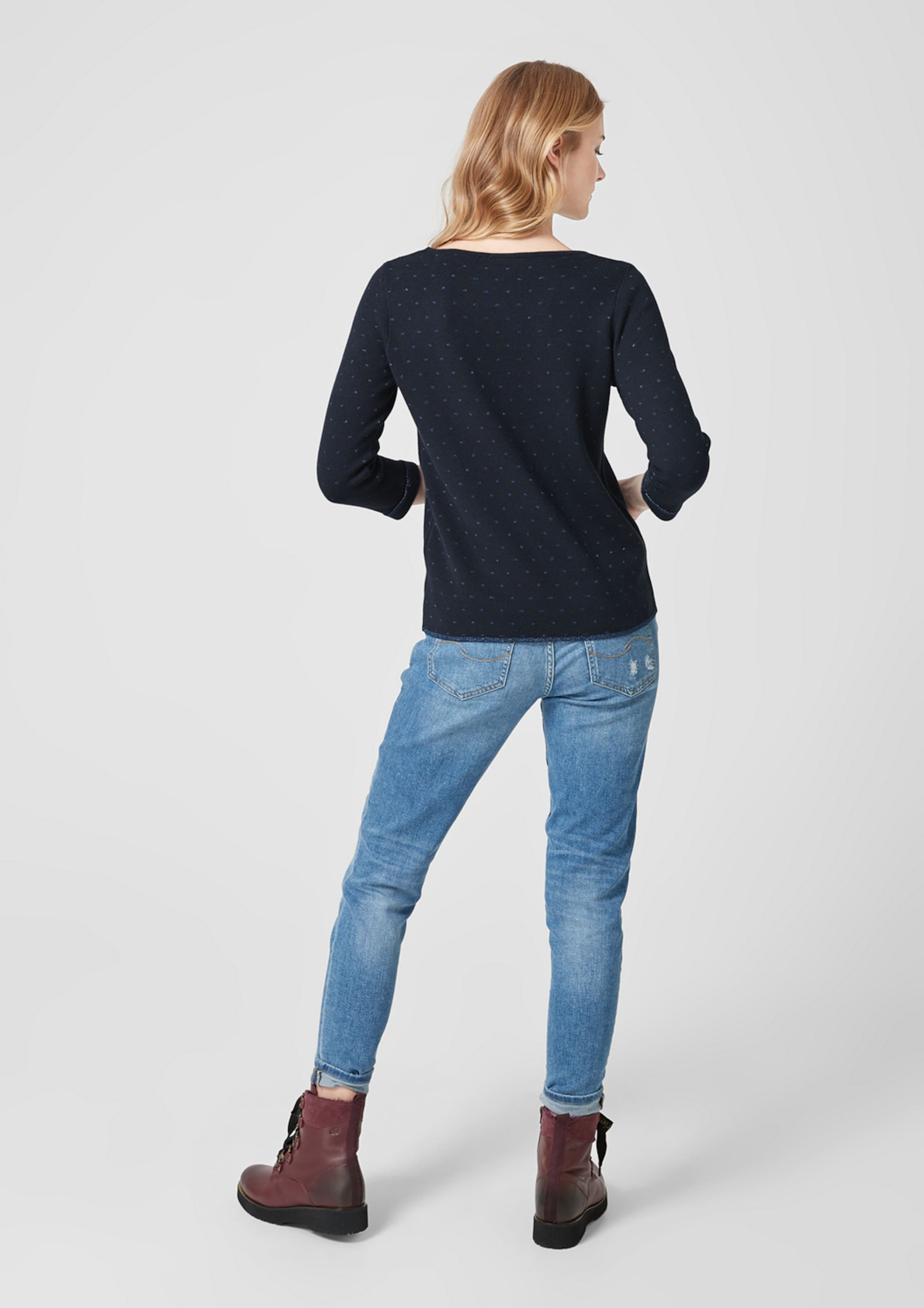 Red S BlauDunkelblau oliver Label Pullover In T3lFuK1Jc