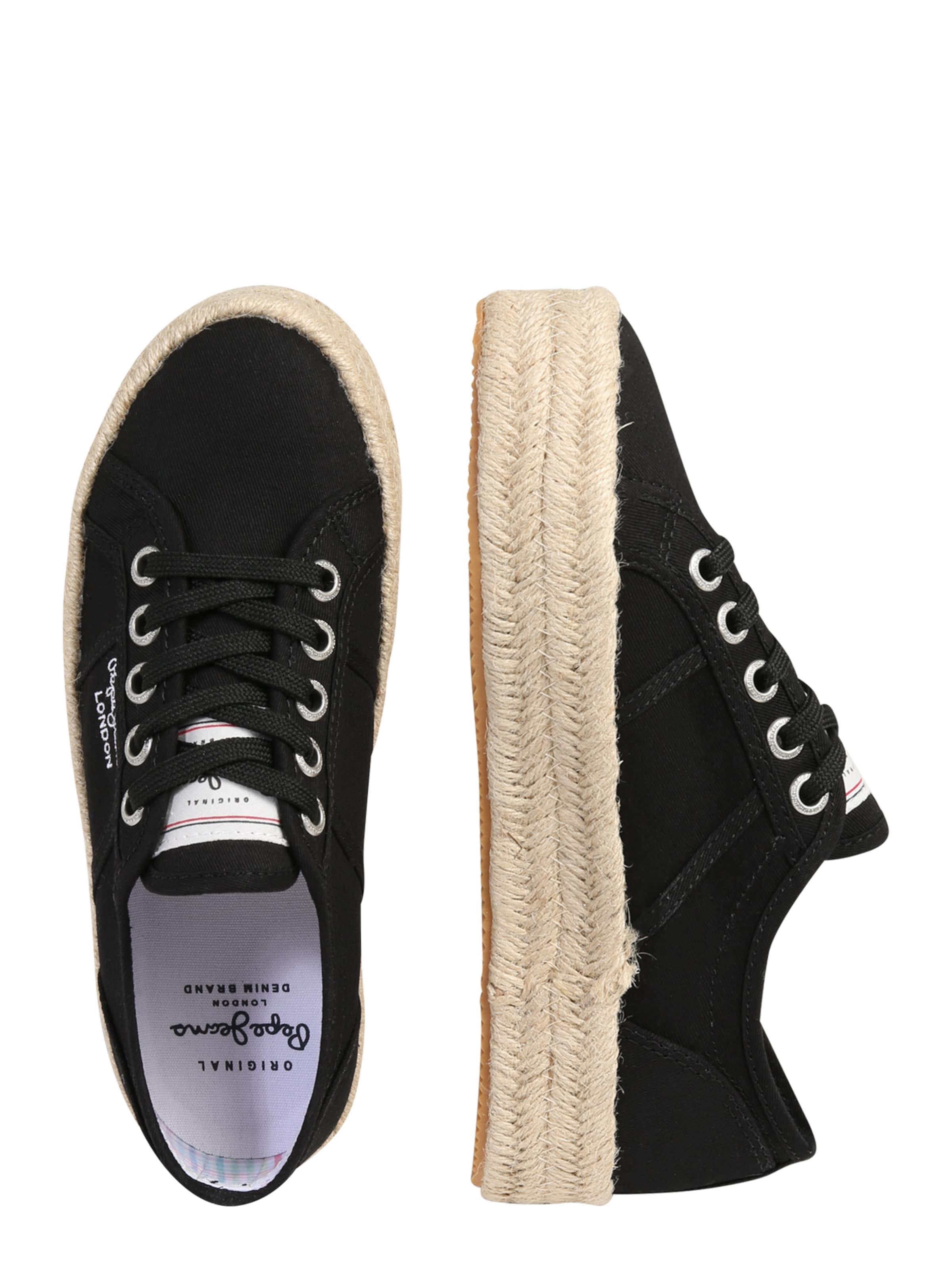 Chaussure À Pepe Jeans En Lacets Noir QrxsthdBC