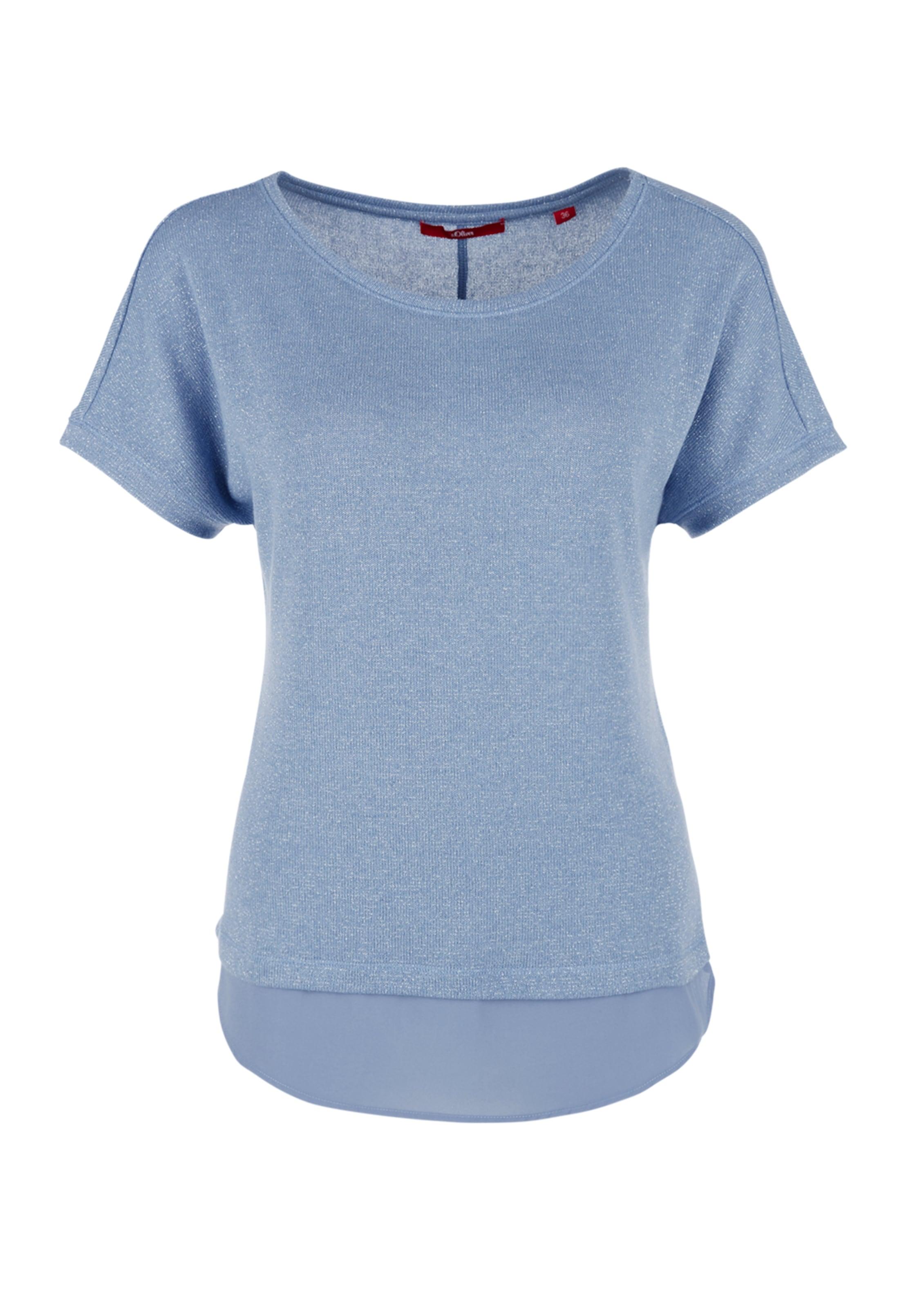 Rauchblau Shirt S oliver Label Red In 8OXkNnwZ0P