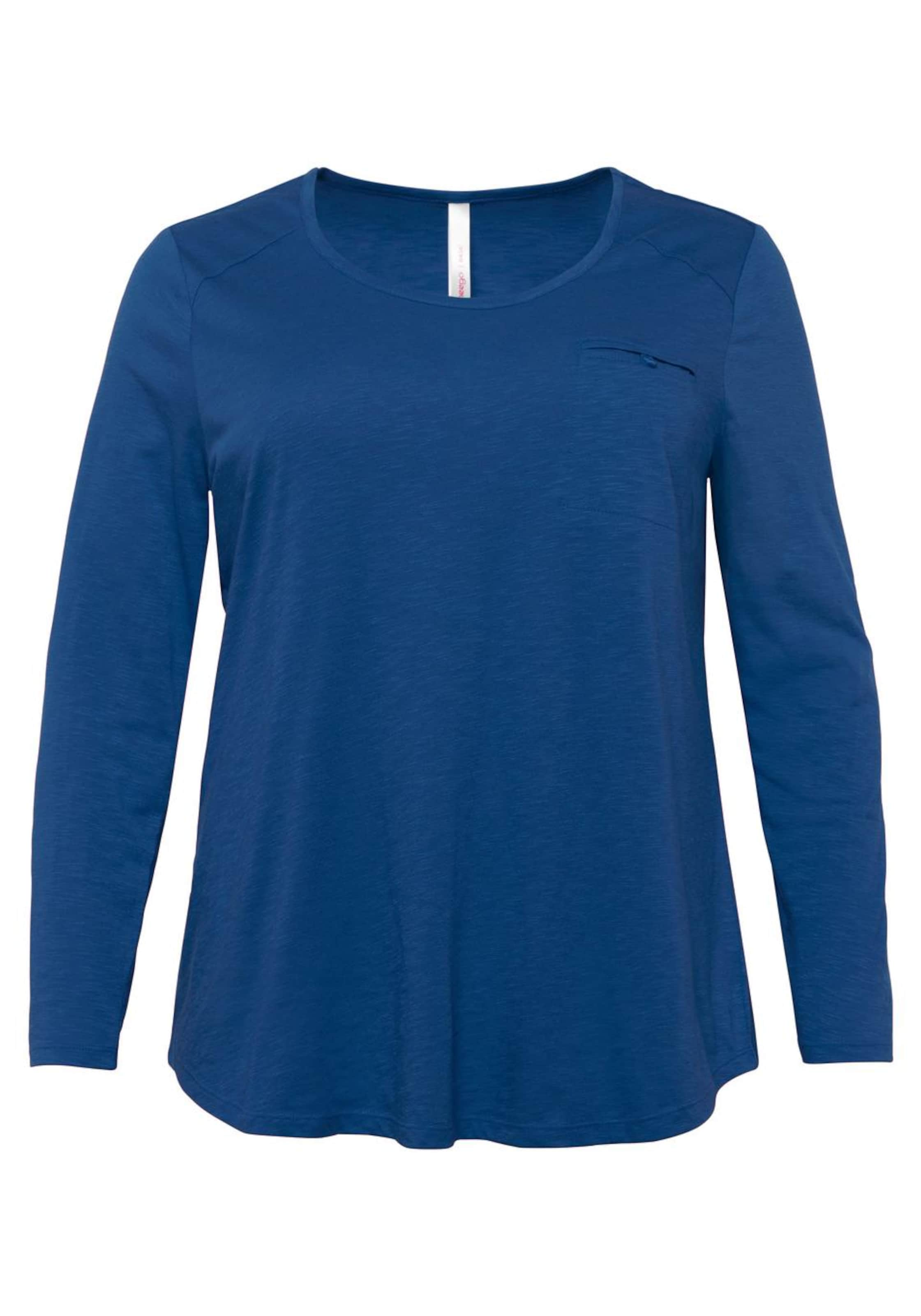Casual Langarmshirt Sheego In Blau Sheego Casual PukXZi