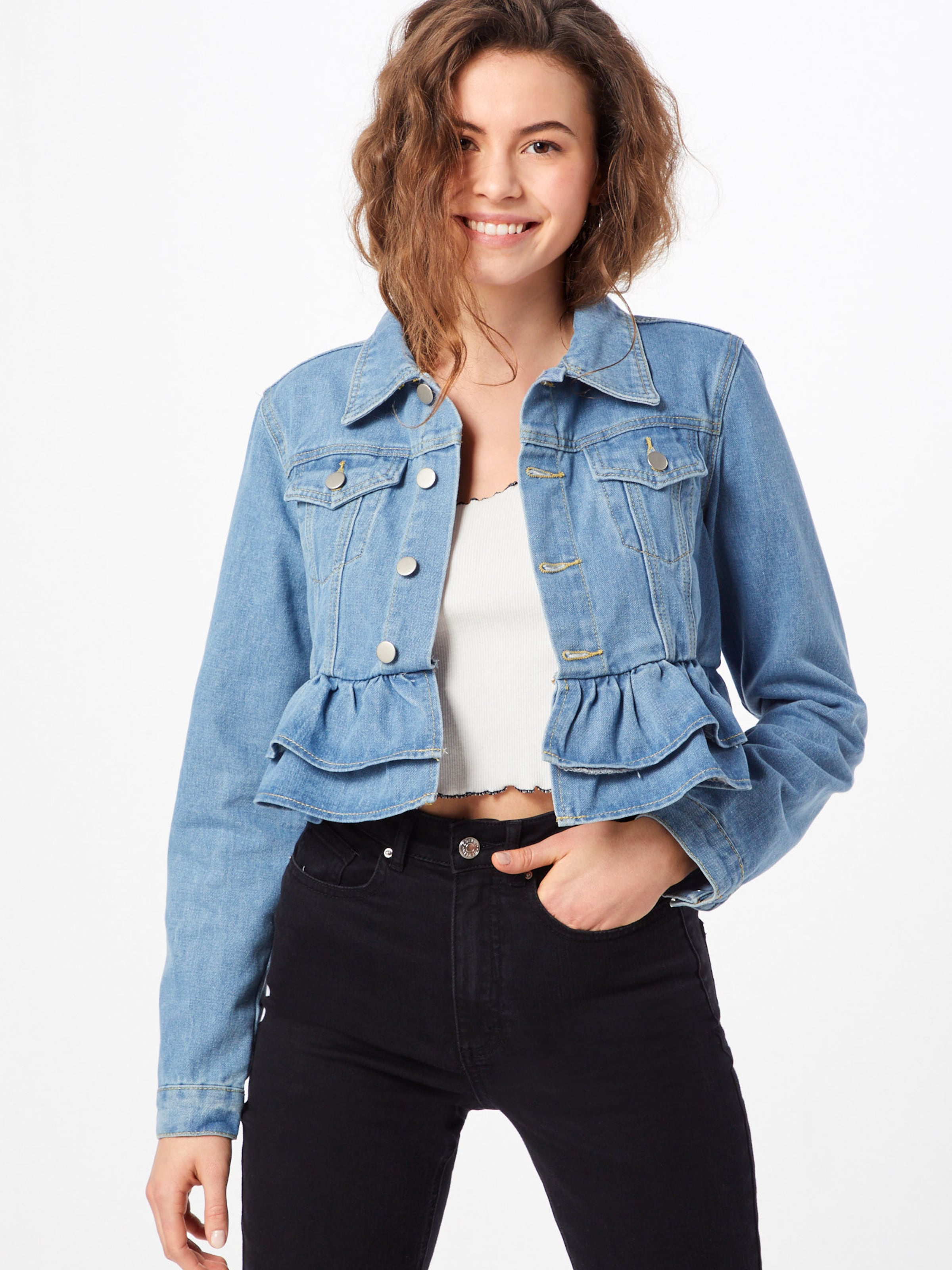 Missguided Jacke Missguided Missguided Hellblau Hellblau Jacke In In Missguided Hellblau Jacke In ulJc3F1TK5