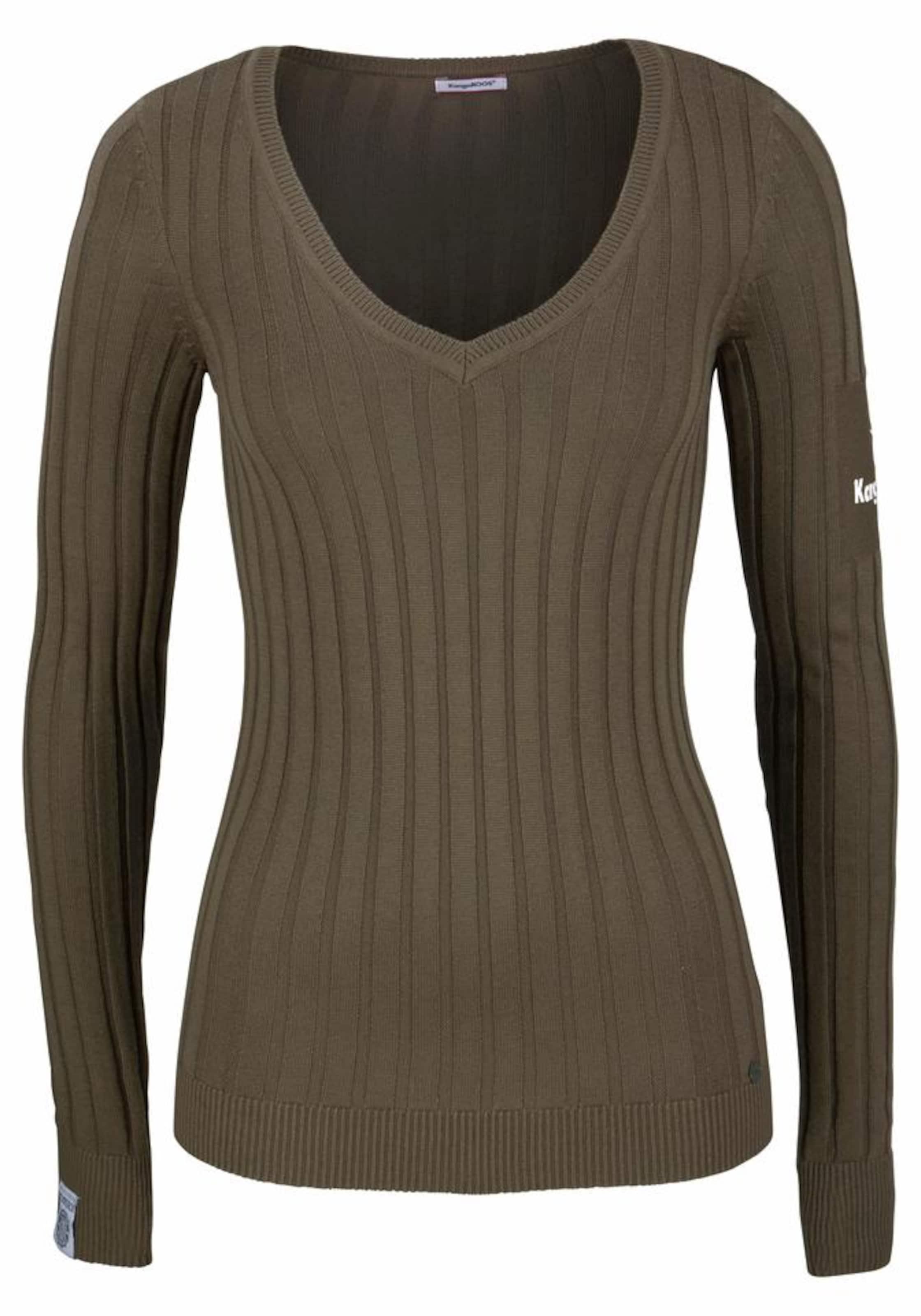 ausschnitt Khaki V In pullover Kangaroos qRL54j3A