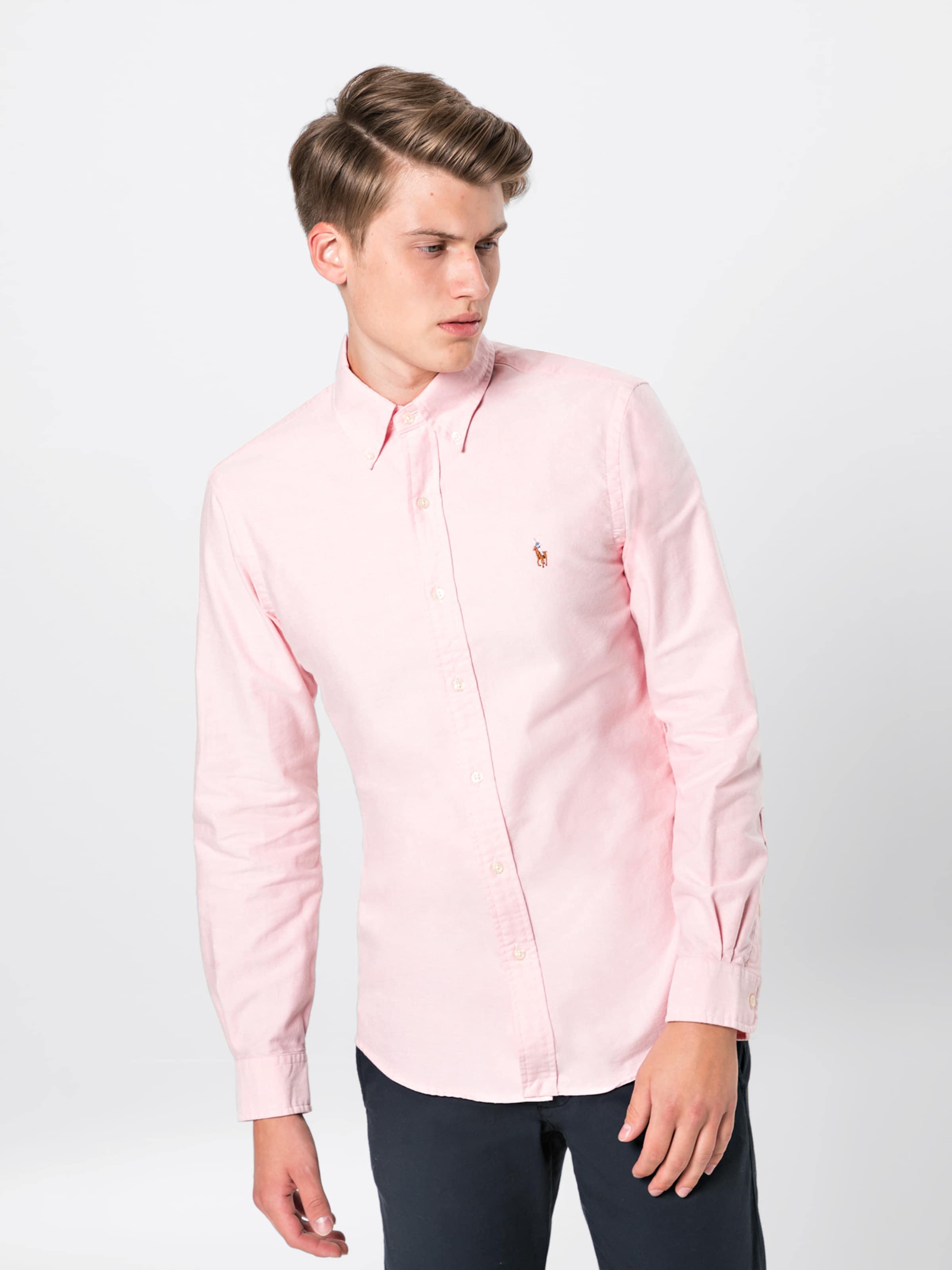 Polo Blanc Sp Ralph Shirt' En Chemise Lauren Bd 'sl long Sleeve sport Ppc SqzUVpGM