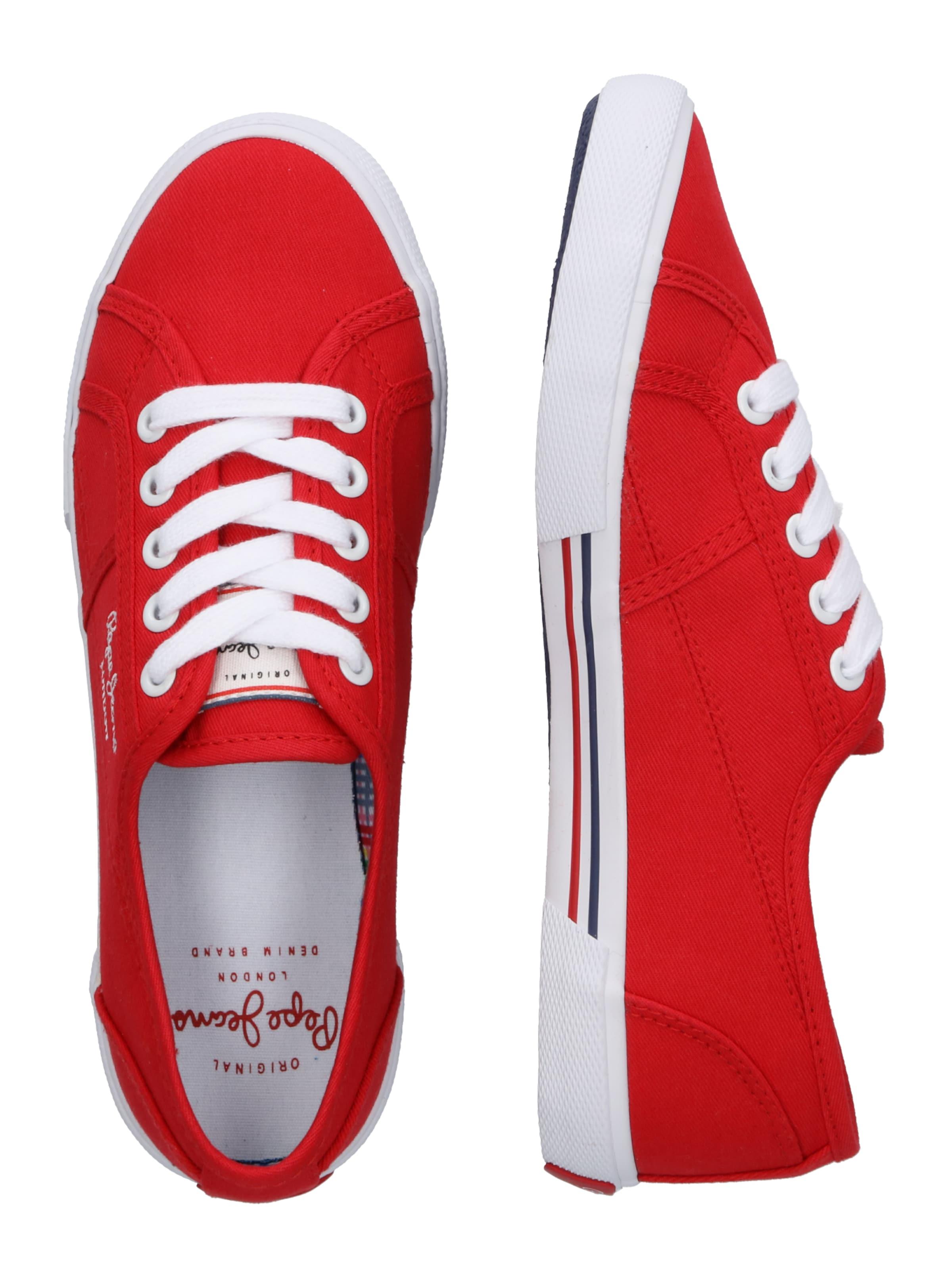 Pepe Basses En Baskets Rouge Jeans QCtrdsh