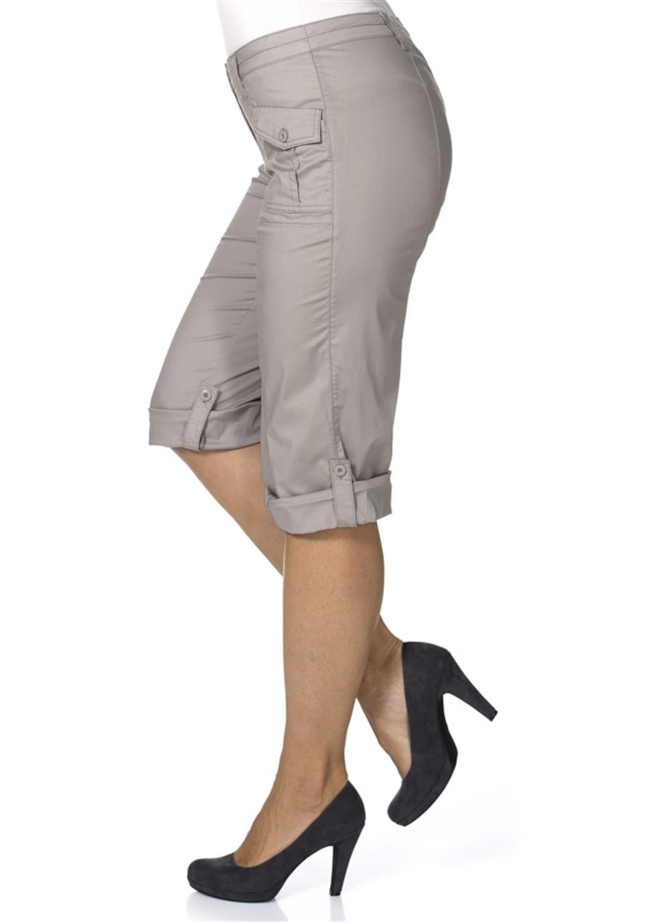 In Beige stretch Komfortable Sheego ¾ Casual hose v8wnyOm0PN