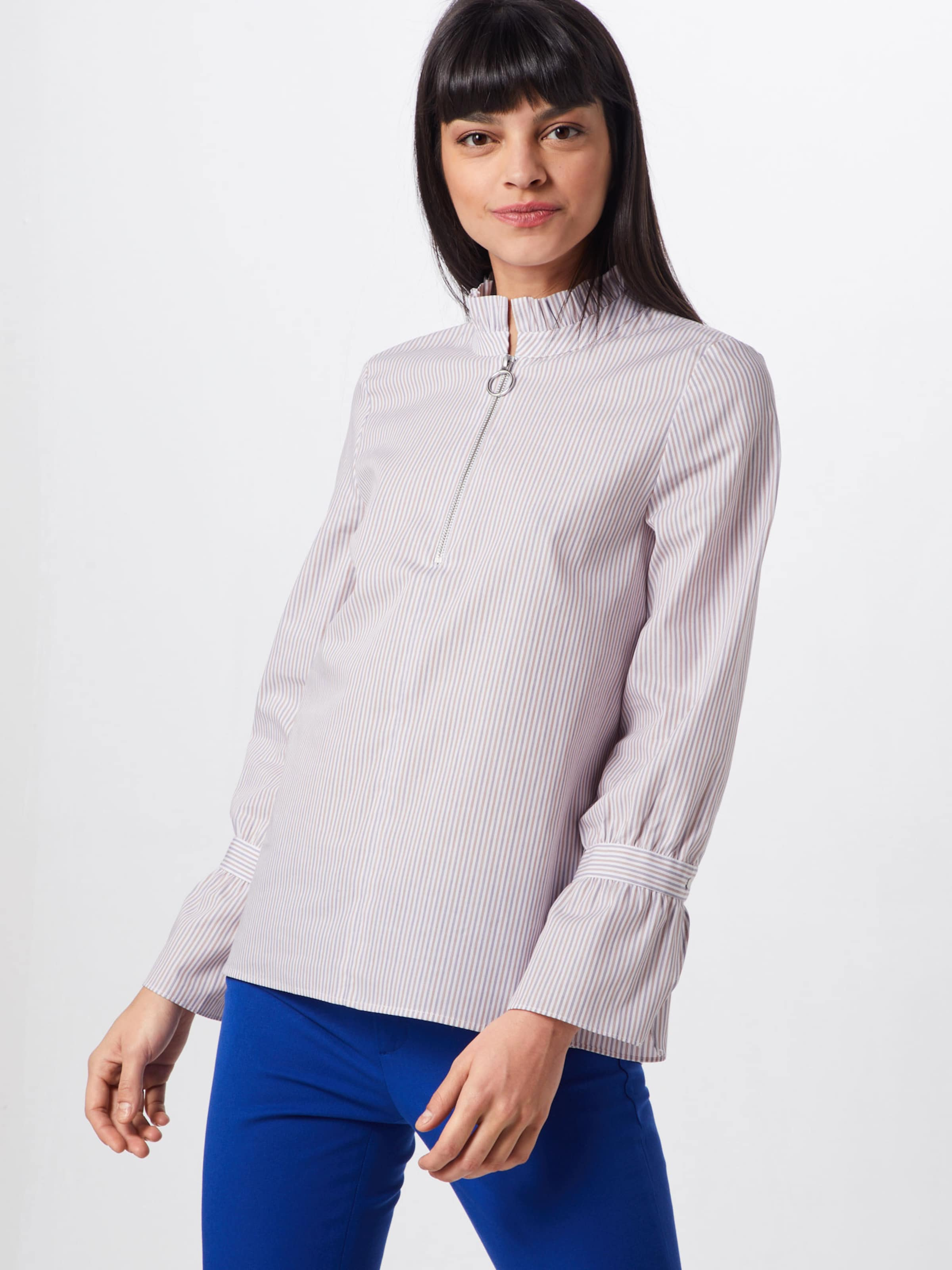 En RoseBlanc Richamp; Royal Zipper Detail' Chemisier With 'blouse l351cTuFKJ