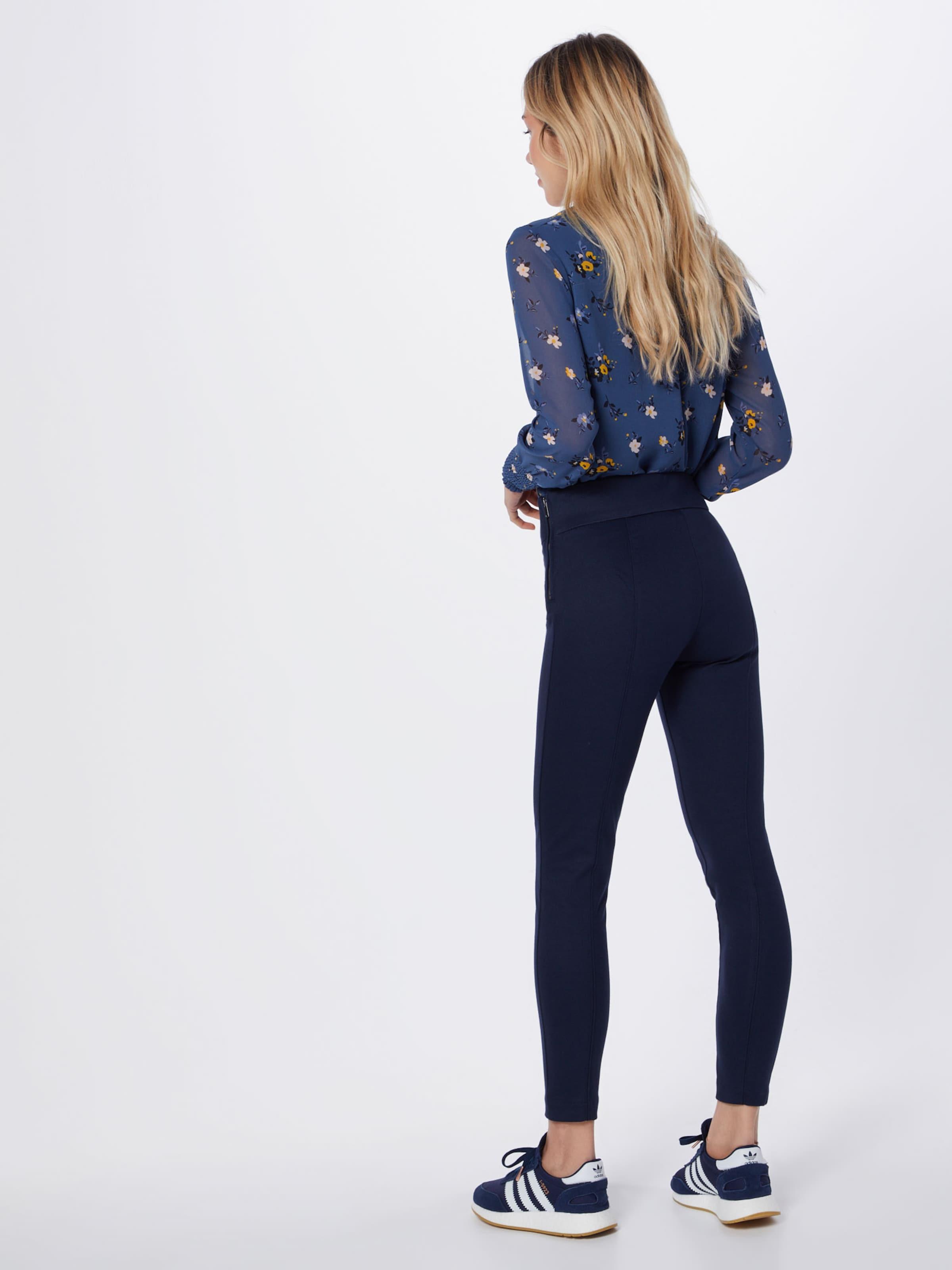 En Zip Pantalon Legging' Bleu Marine 'side Gap YbeWE2IHD9