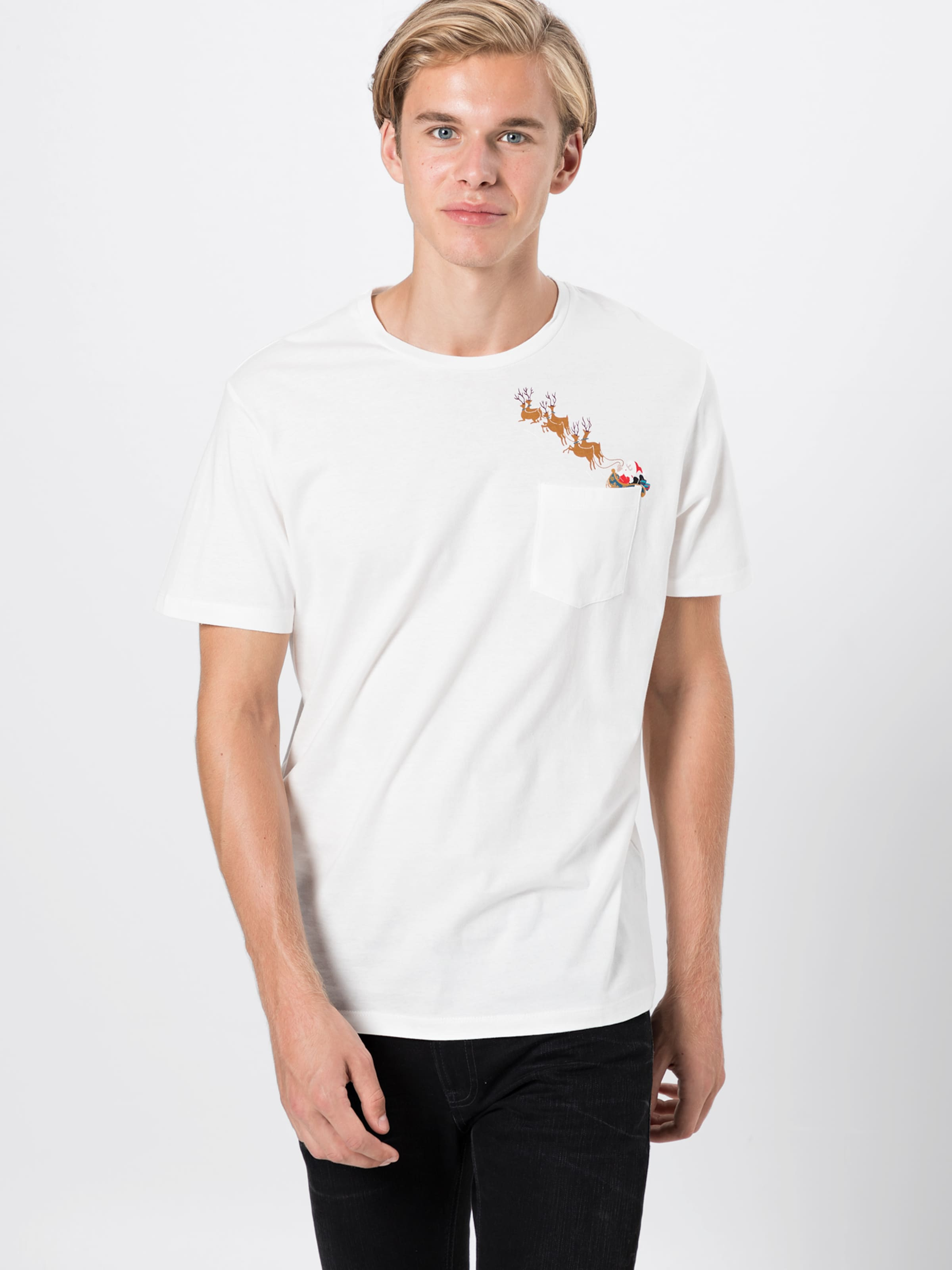 Jones En Blanc shirt T Rouge Jackamp; BleuPétrole CBrdexo