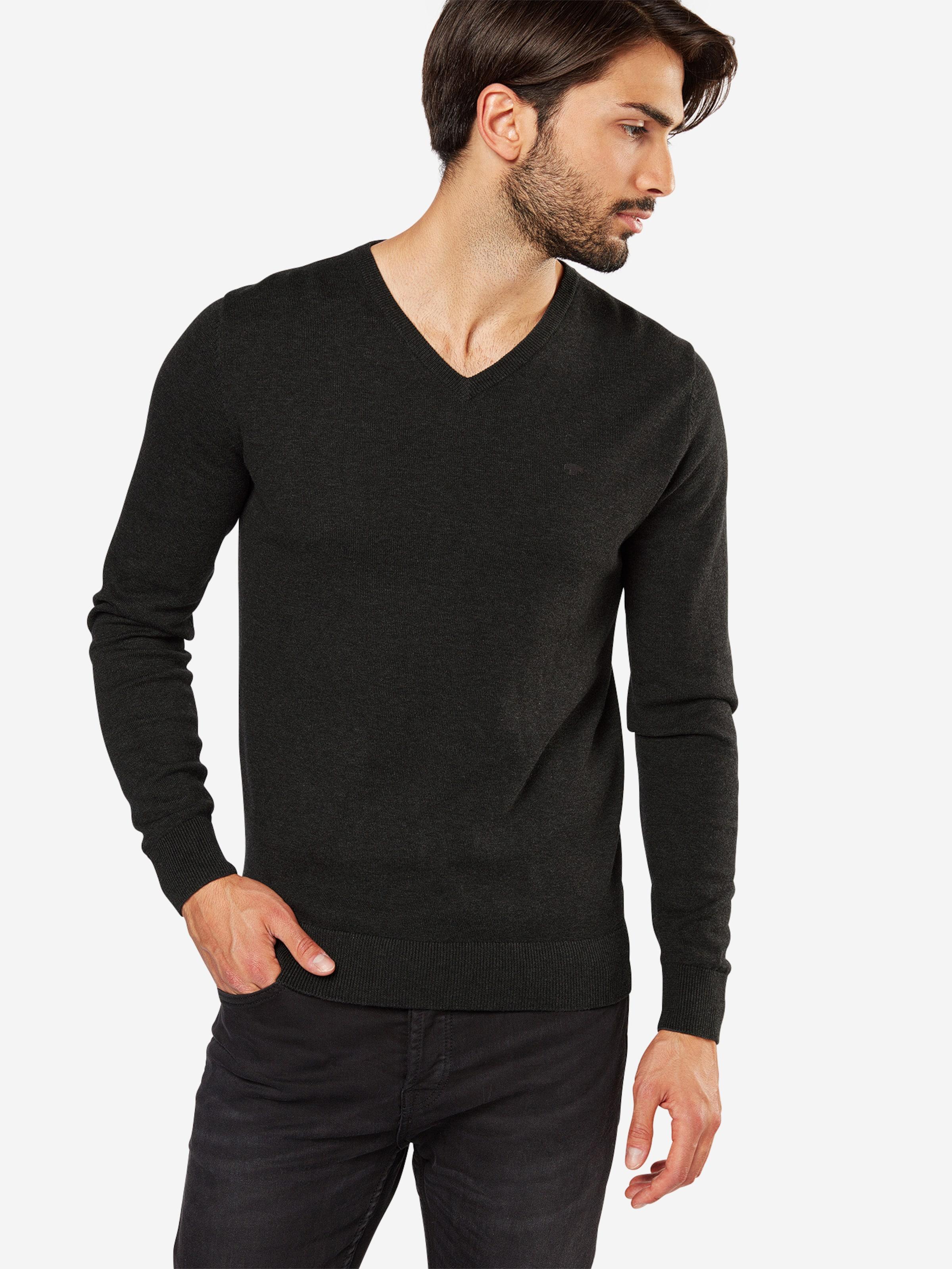 Anthracite over Pull Tailor neck En 'basic V Sweater' Tom qVpSGUzM