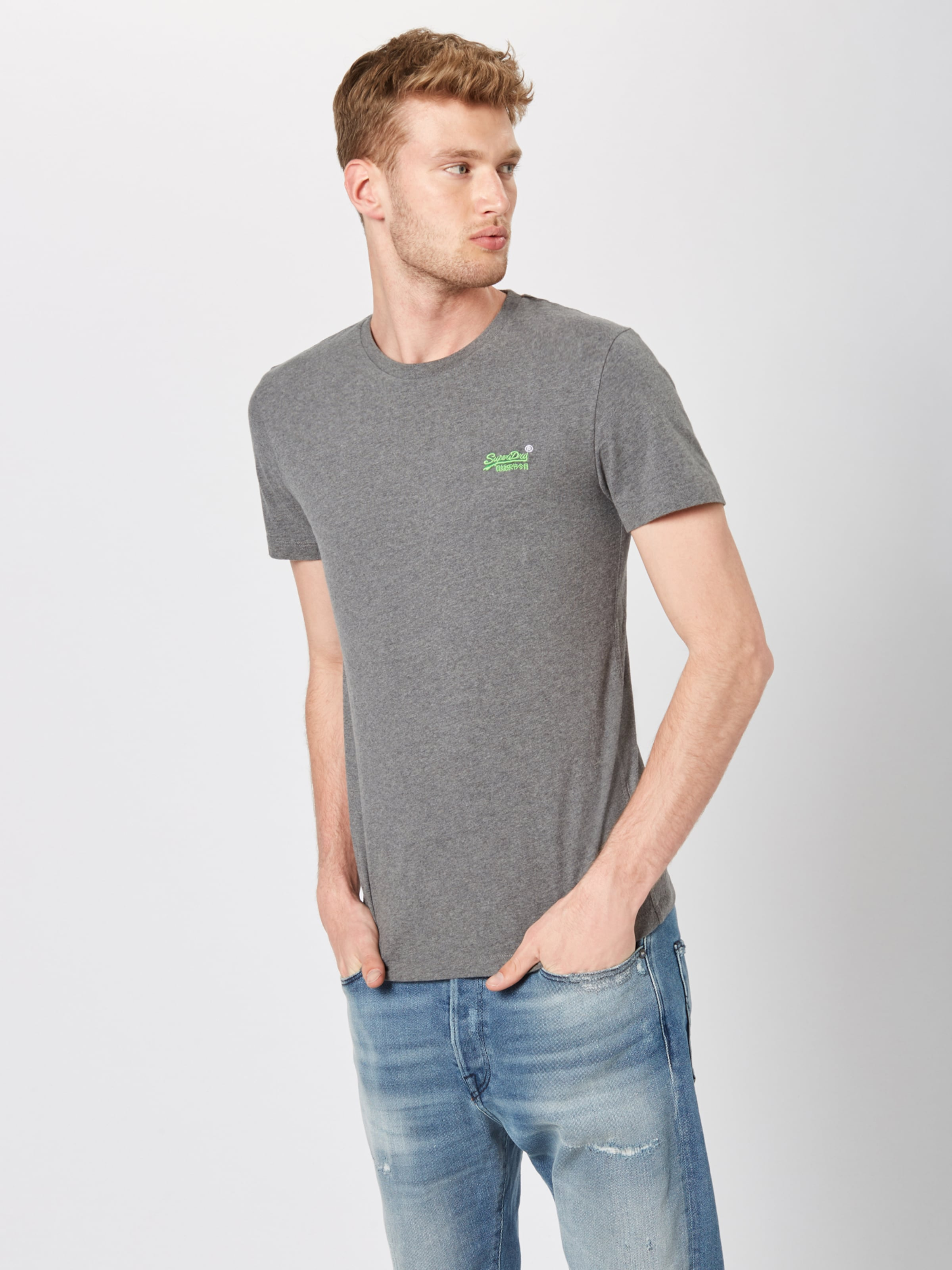 T Embroidery Bleu Superdry En Label Vintage 'orange shirt Tee' JcT1lFK3