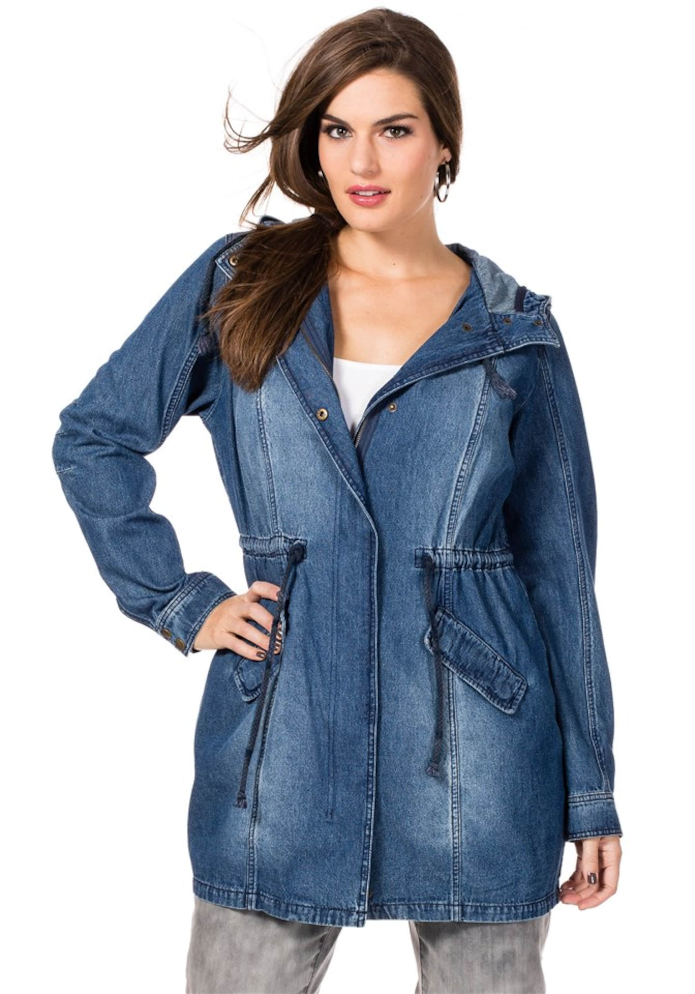 Denim In Blau Jeansparka Jeansparka Blau Sheego Sheego Denim In rxhBsdtQC