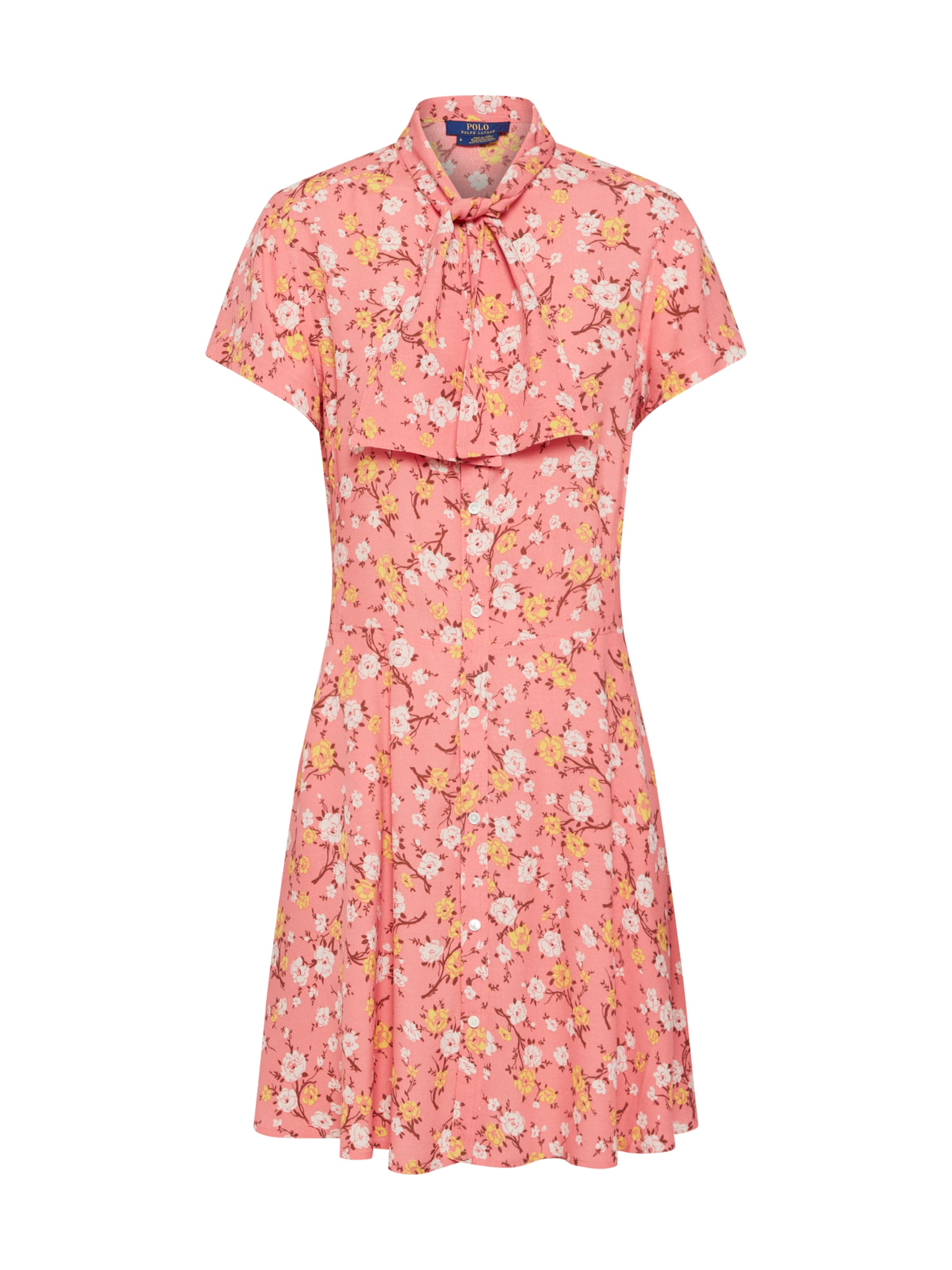 casual AbricotSaumon Be En 'ss short Dress' Sleeve Polo Lauren Dr Ralph chemise Robe rBWxeodC