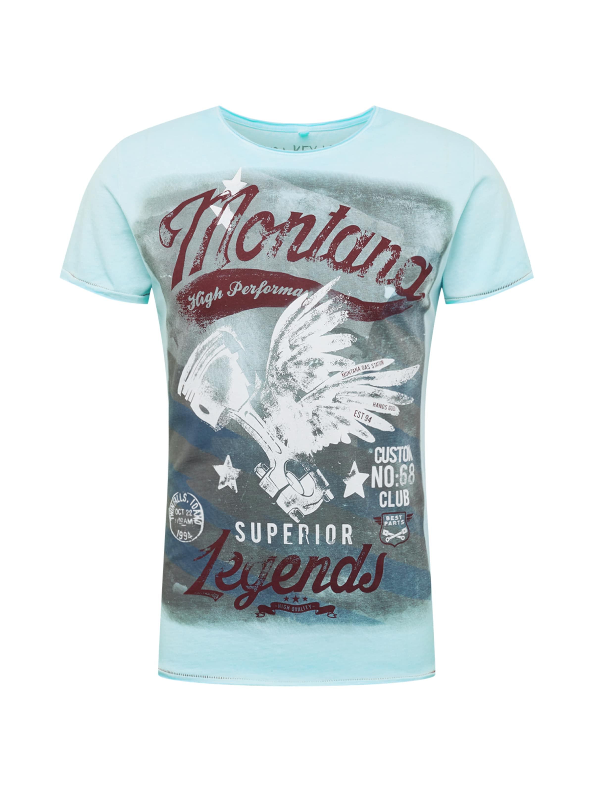 shirt De CouleursBlanc Largo En Key Montana 'mt Round' T Mélange BCoxed