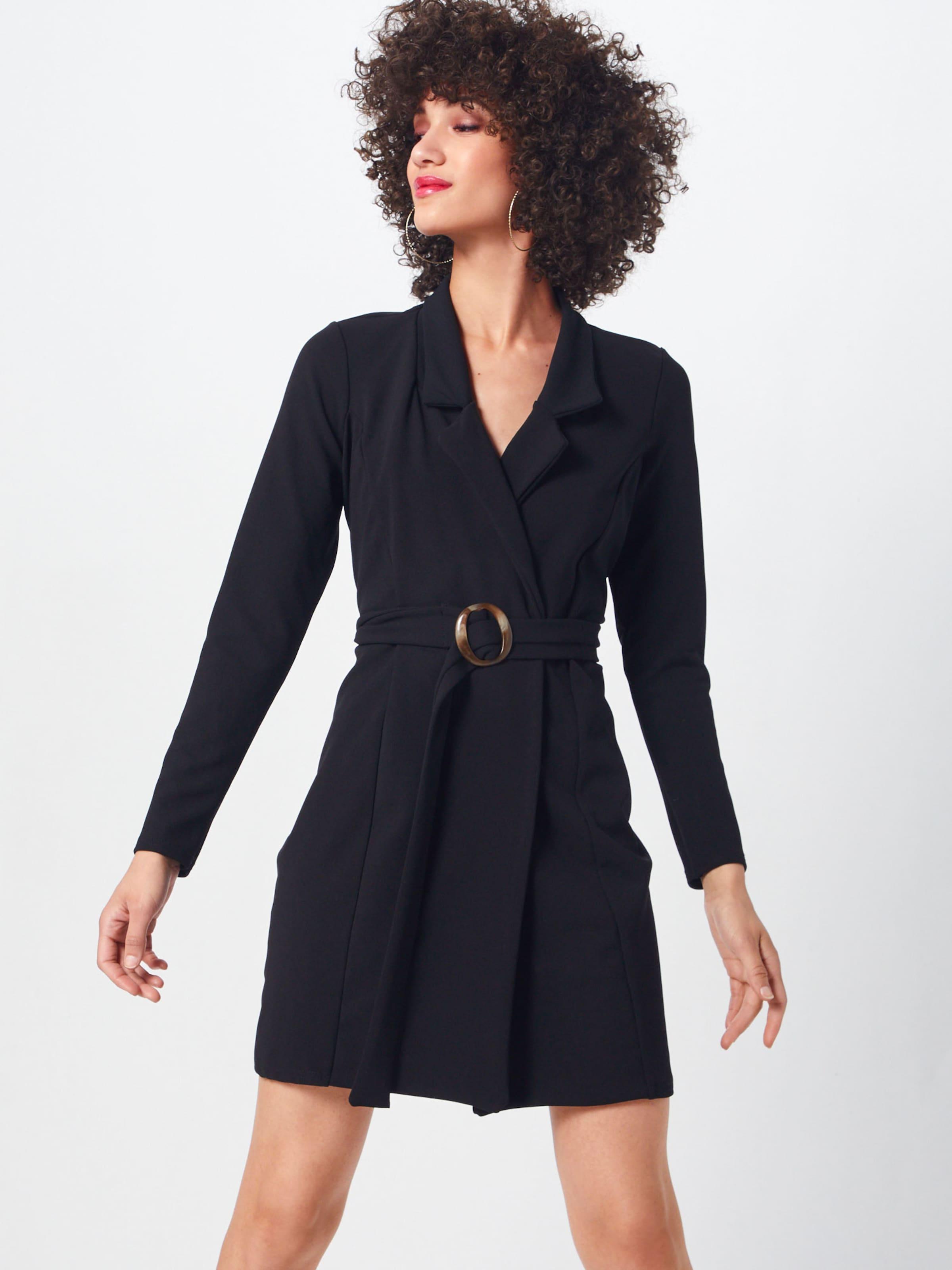 tortoise' Blazer Dress Missguided Sleeve Robe 'long Belted En Noir uKlTF1Jc3