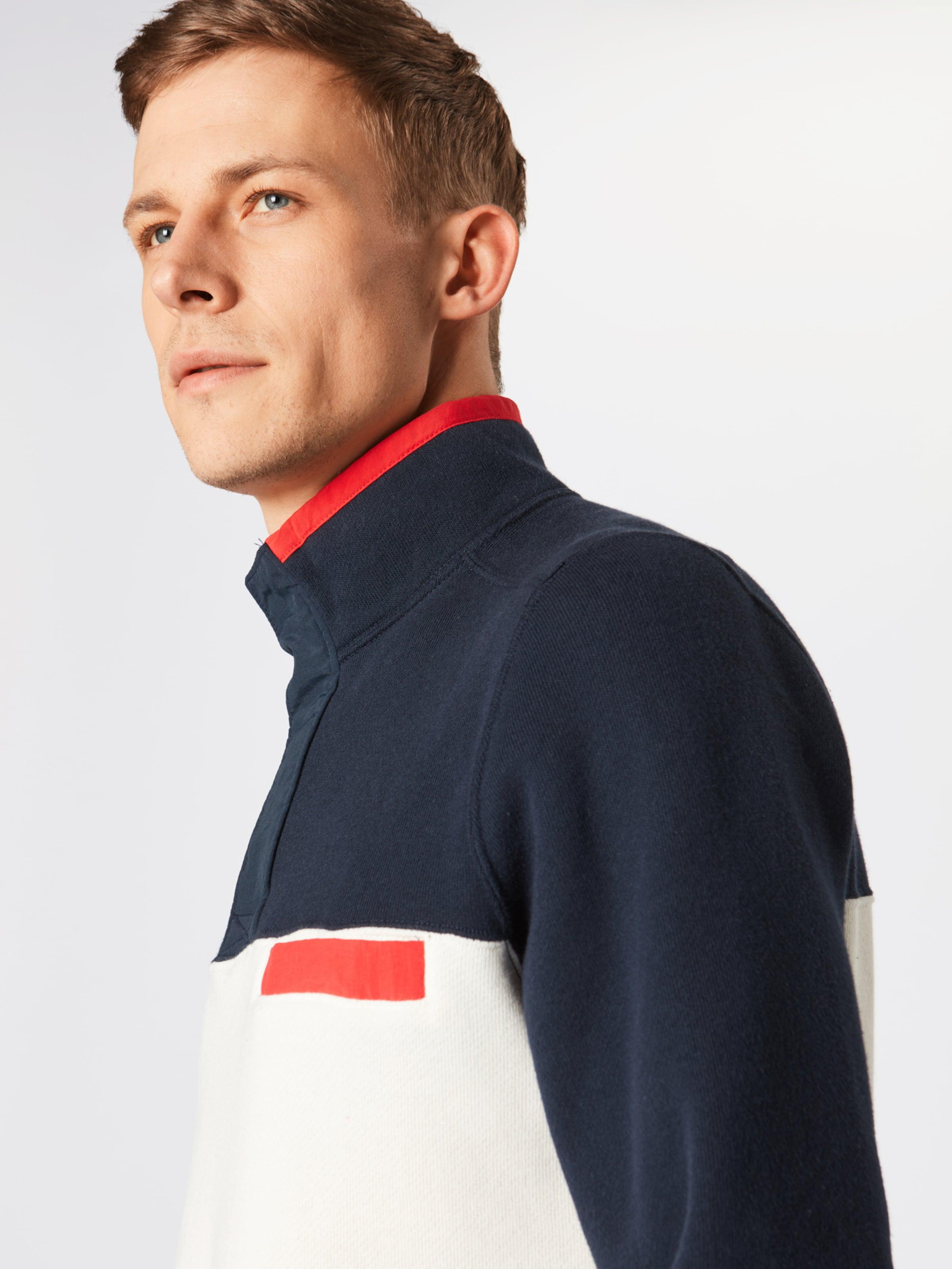 Abercrombieamp; shirt En MarineBlanc Nylon 'blocked Sweat Mock' Bleu Hz Fitch NnP8OXZk0w