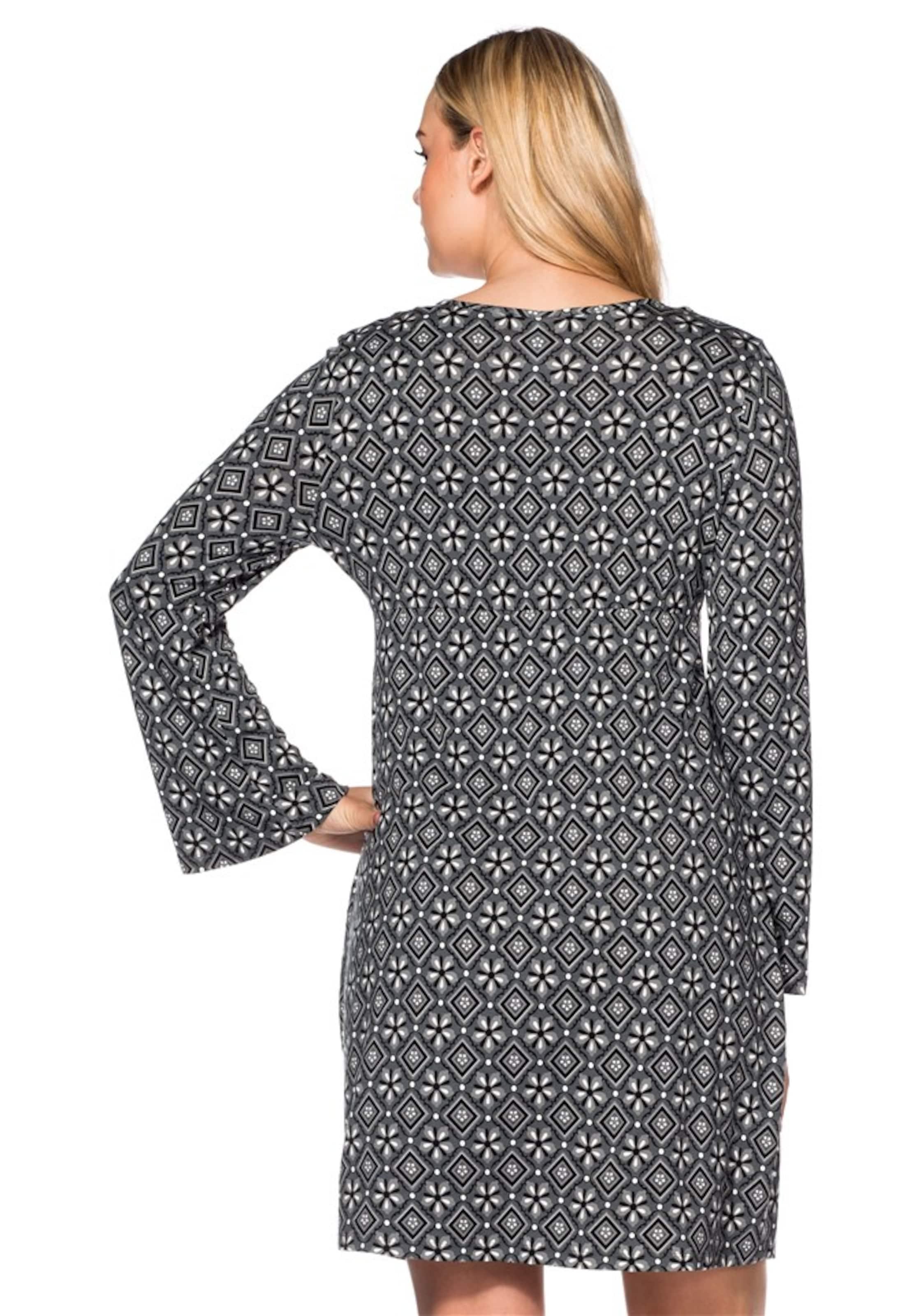 Style Style Jerseykleid In GrauWeiß Jerseykleid GrauWeiß Sheego Style Jerseykleid In Sheego Sheego H9YE2WDI
