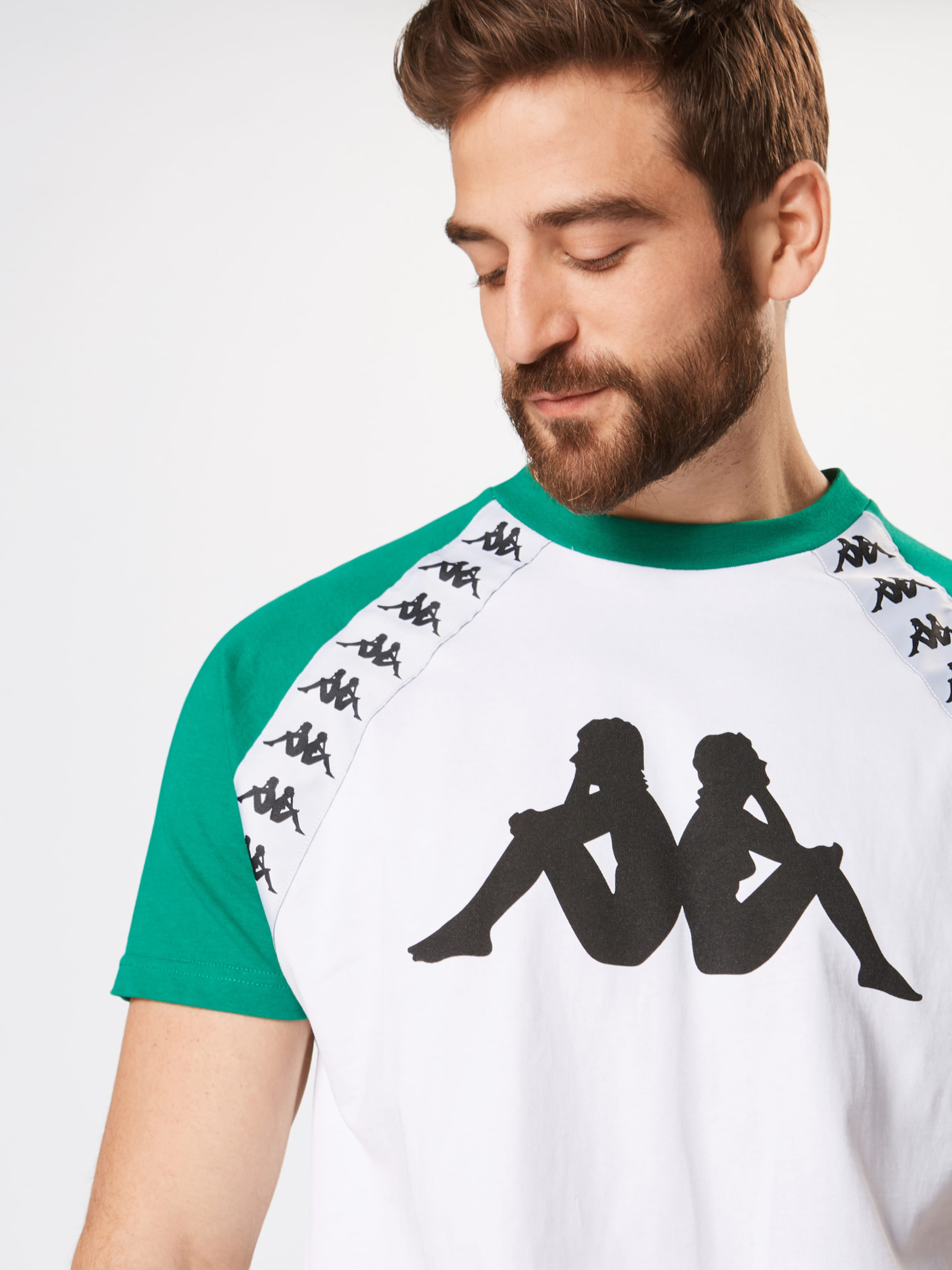 Kappa FoncéNoir Blanc 'banda Bardi' Vert shirt En T deBoCx