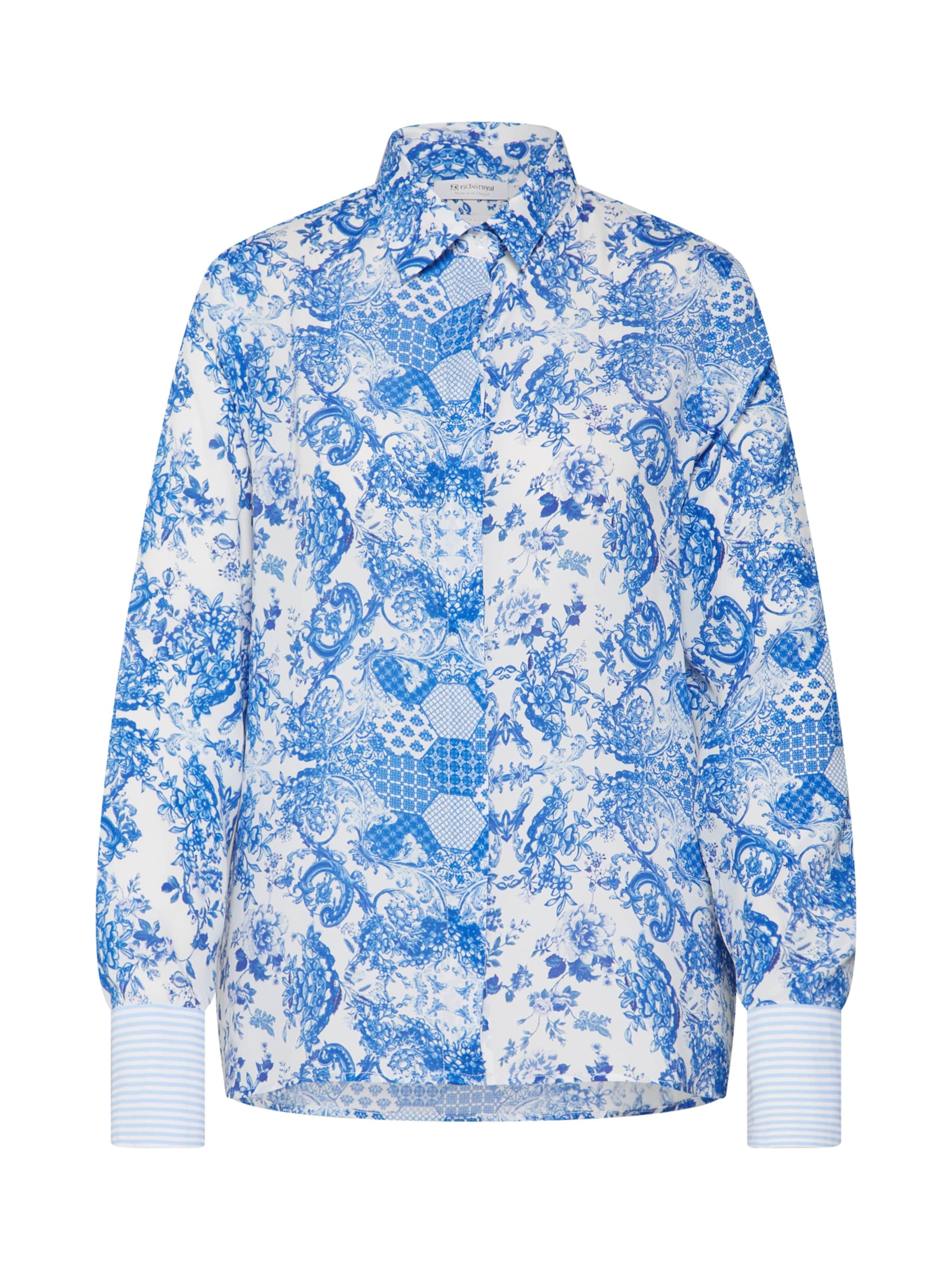 En Couleurs Royal BleuMélange De Chemisier Blanc Richamp; 4Rq3Aj5L