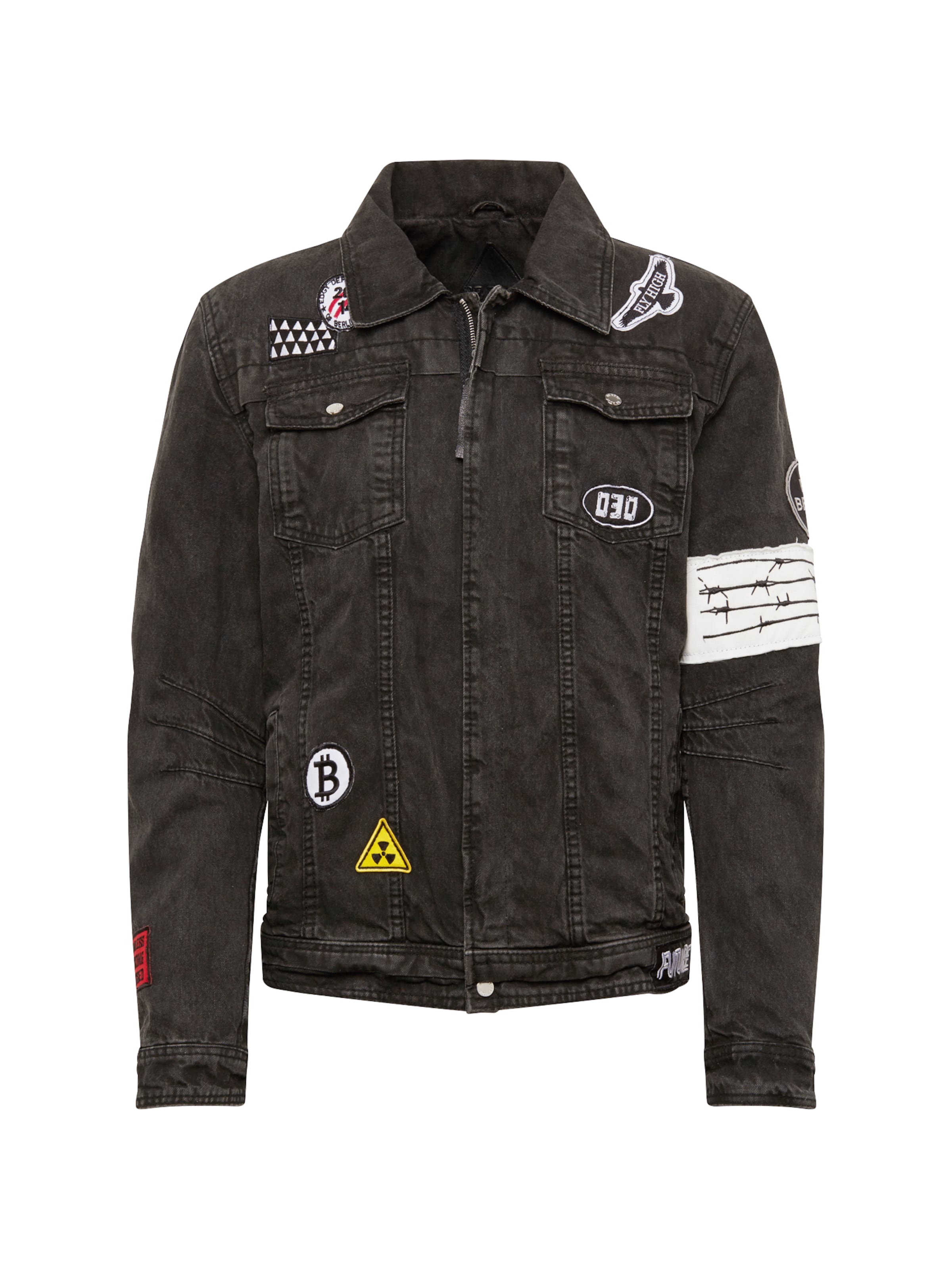 Veste En Edgy 'bedusty Noir D' Denim Be Mi saison CBdxoe