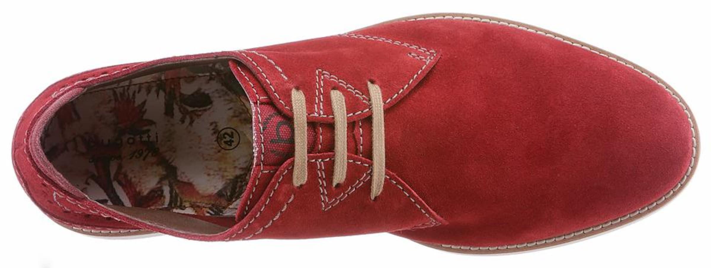 Rouge En Chaussure Lacets Bugatti À rxtQhdCBs