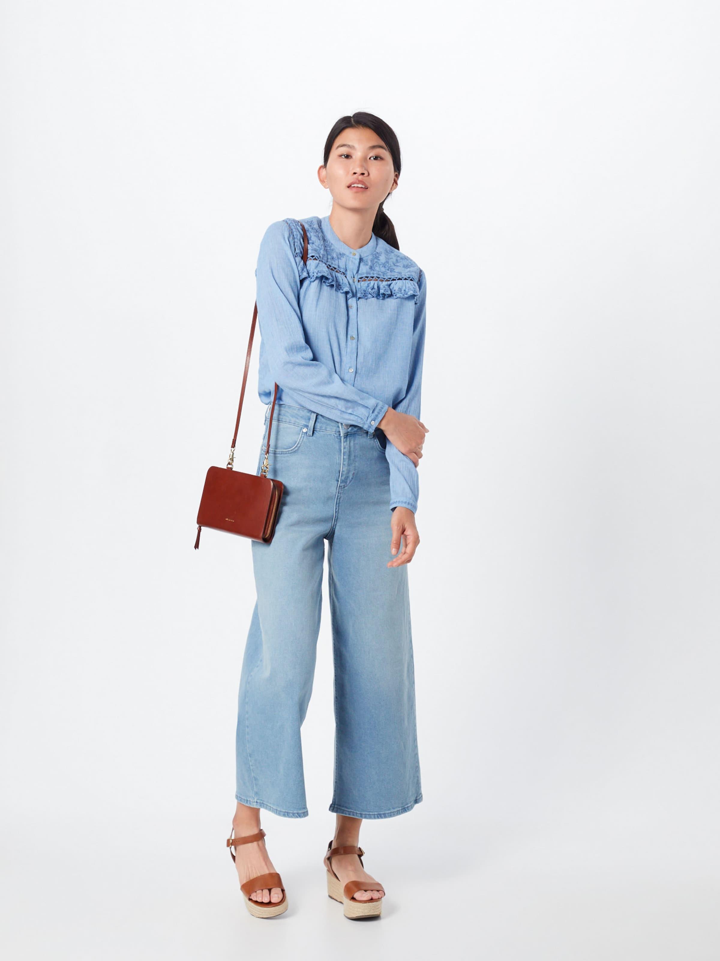 En 'holly' Jeans Chemisier Bleu Pepe 4R5L3jA