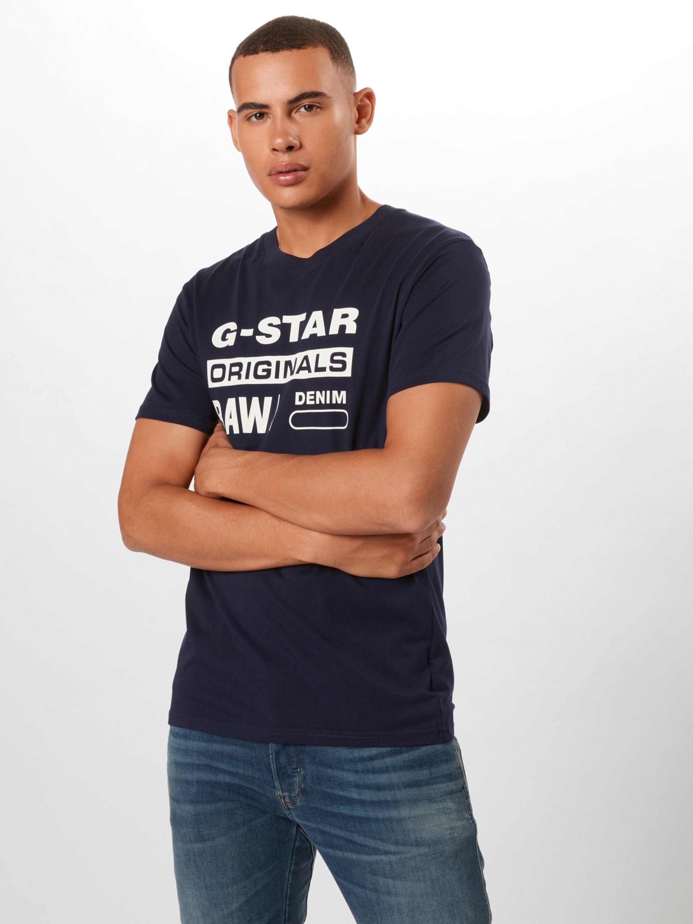 'graphic FoncéBlanc Bleu star shirt 8' Raw En G T qGMVSzpU