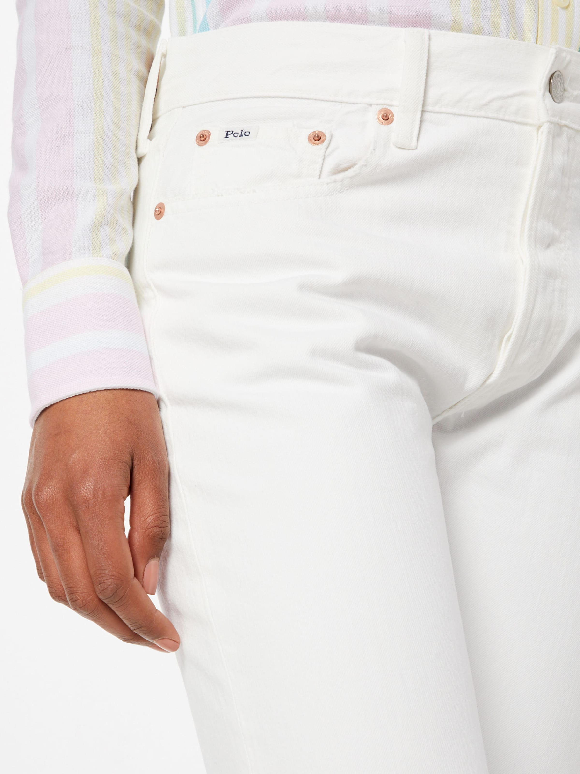 Hr Ralph slim Polo Jean En denim' Blanc Lauren 'calln Slm j4AR5Lq3