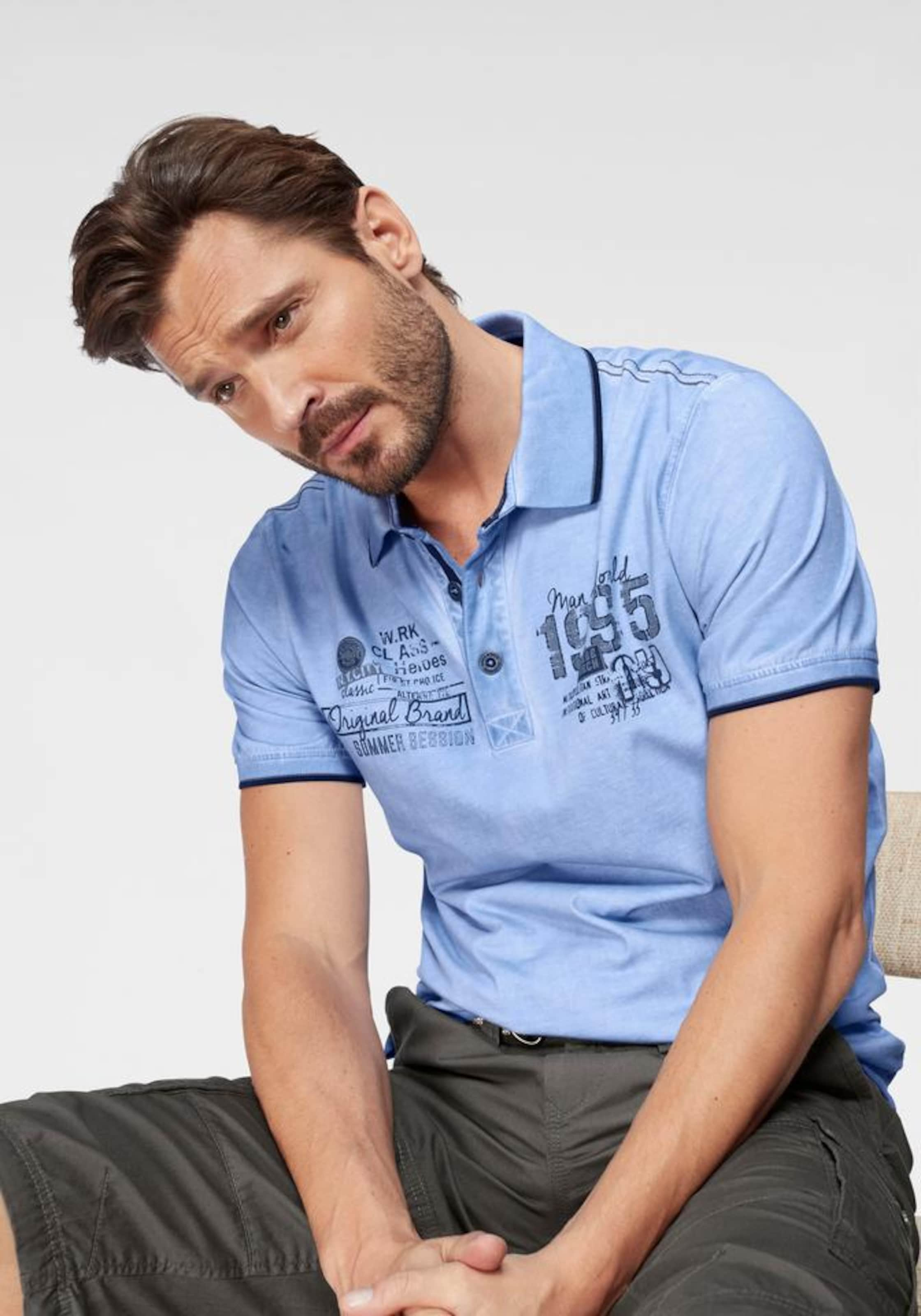Man's World In In Man's World Poloshirt Poloshirt Hellblau OX80Pknw