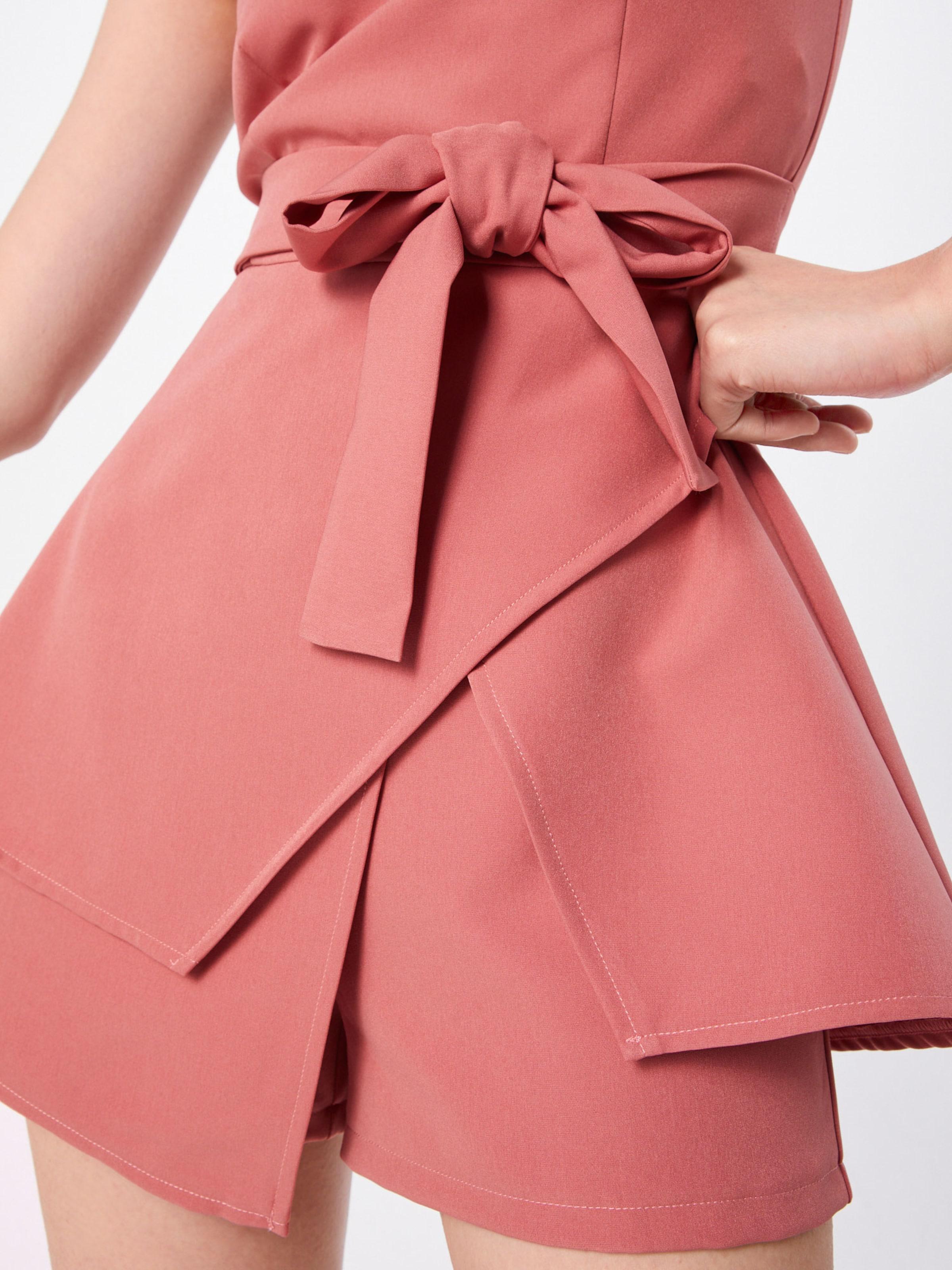 Missguided En Rose 'bandeau Combinaison Playsuit' IW9DHeE2Y