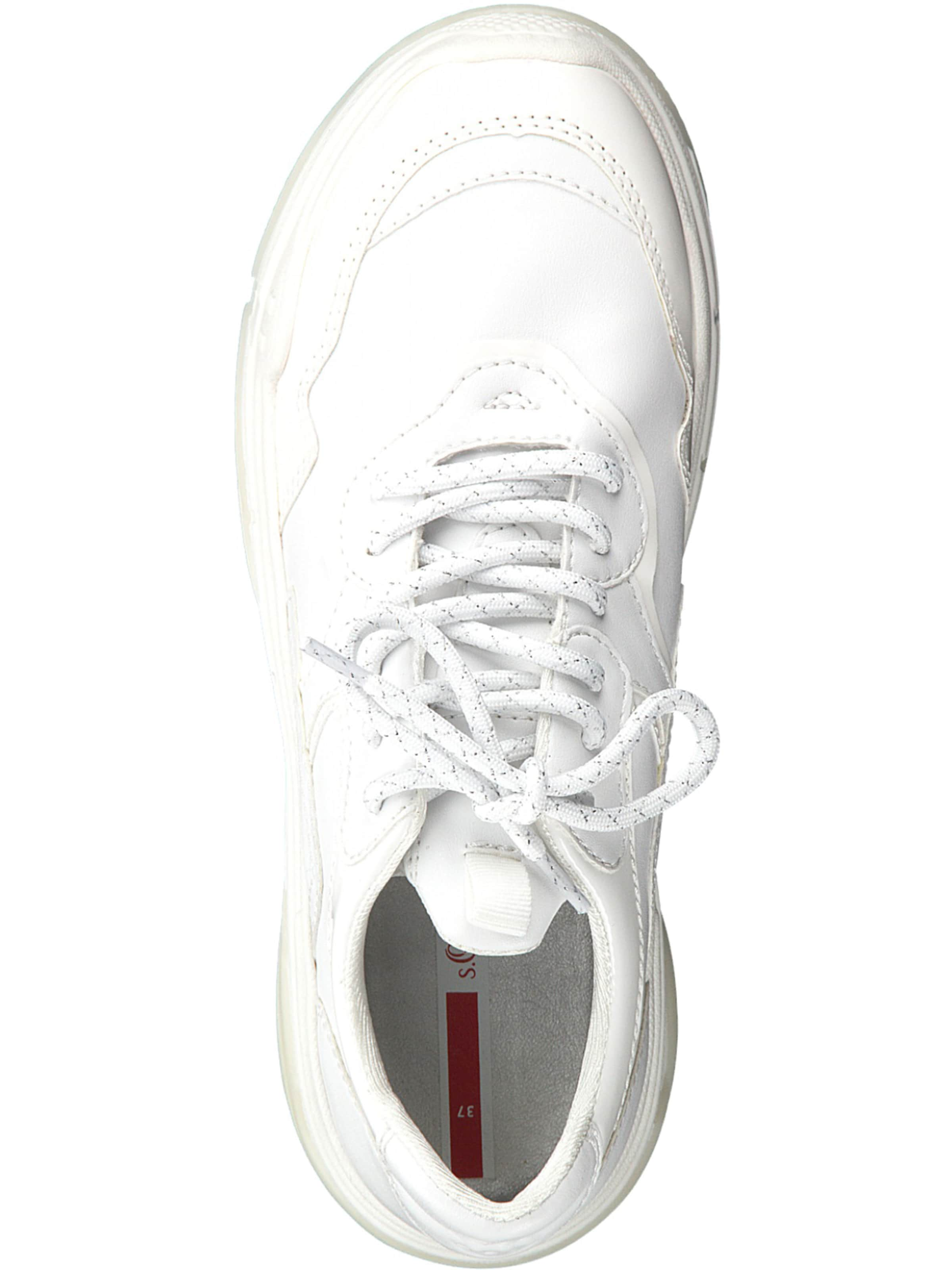 Label S Baskets En Blanc Basses oliver Red Perle Yvby76Ifgm
